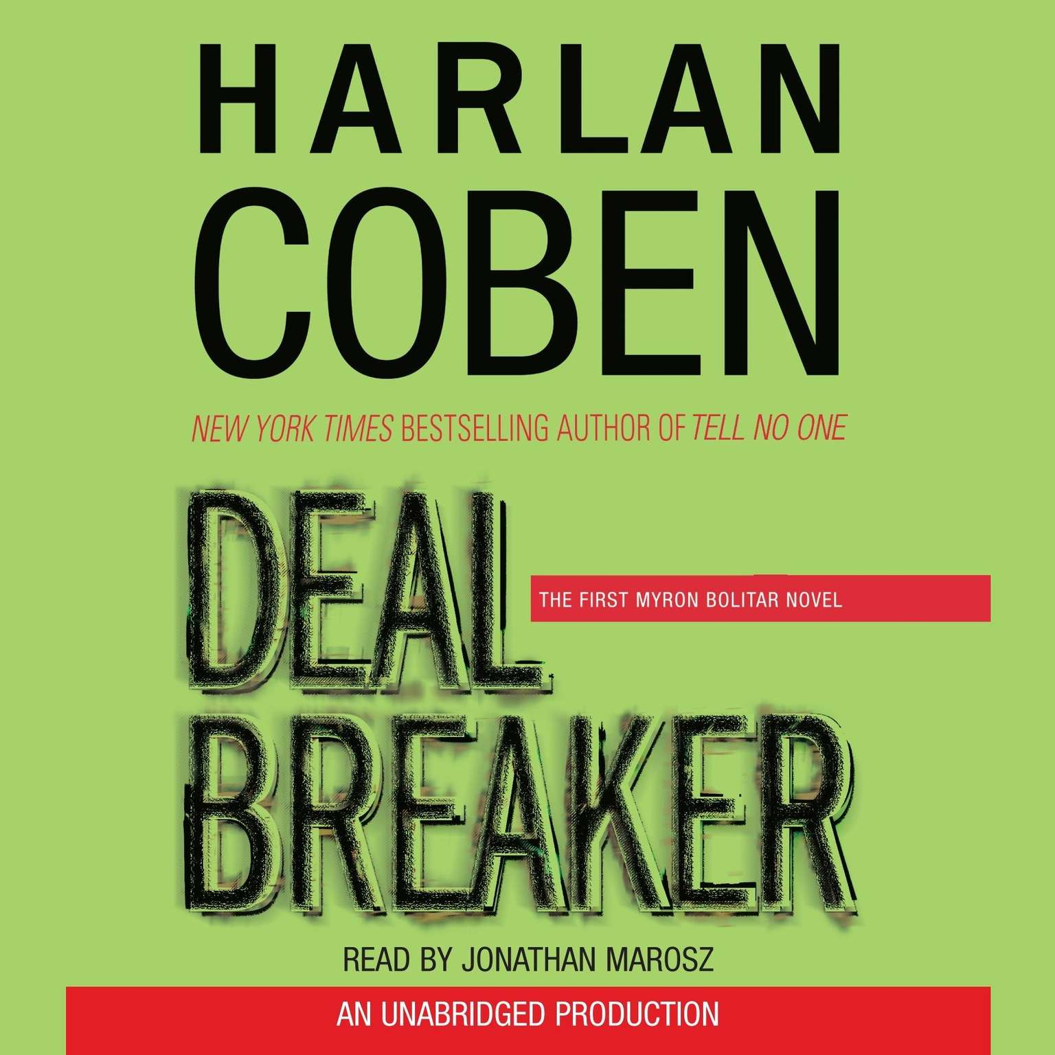 Printable Deal Breaker: The First Myron Bolitar Novel Audiobook Cover Art