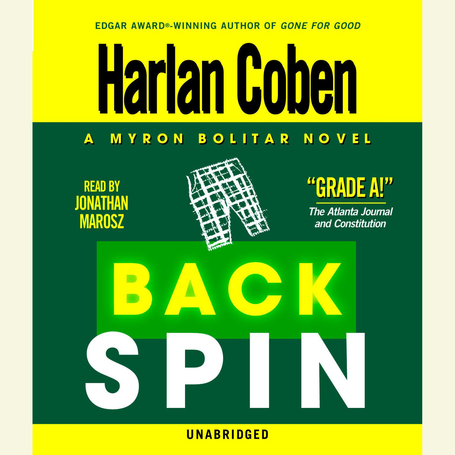 Printable Back Spin Audiobook Cover Art