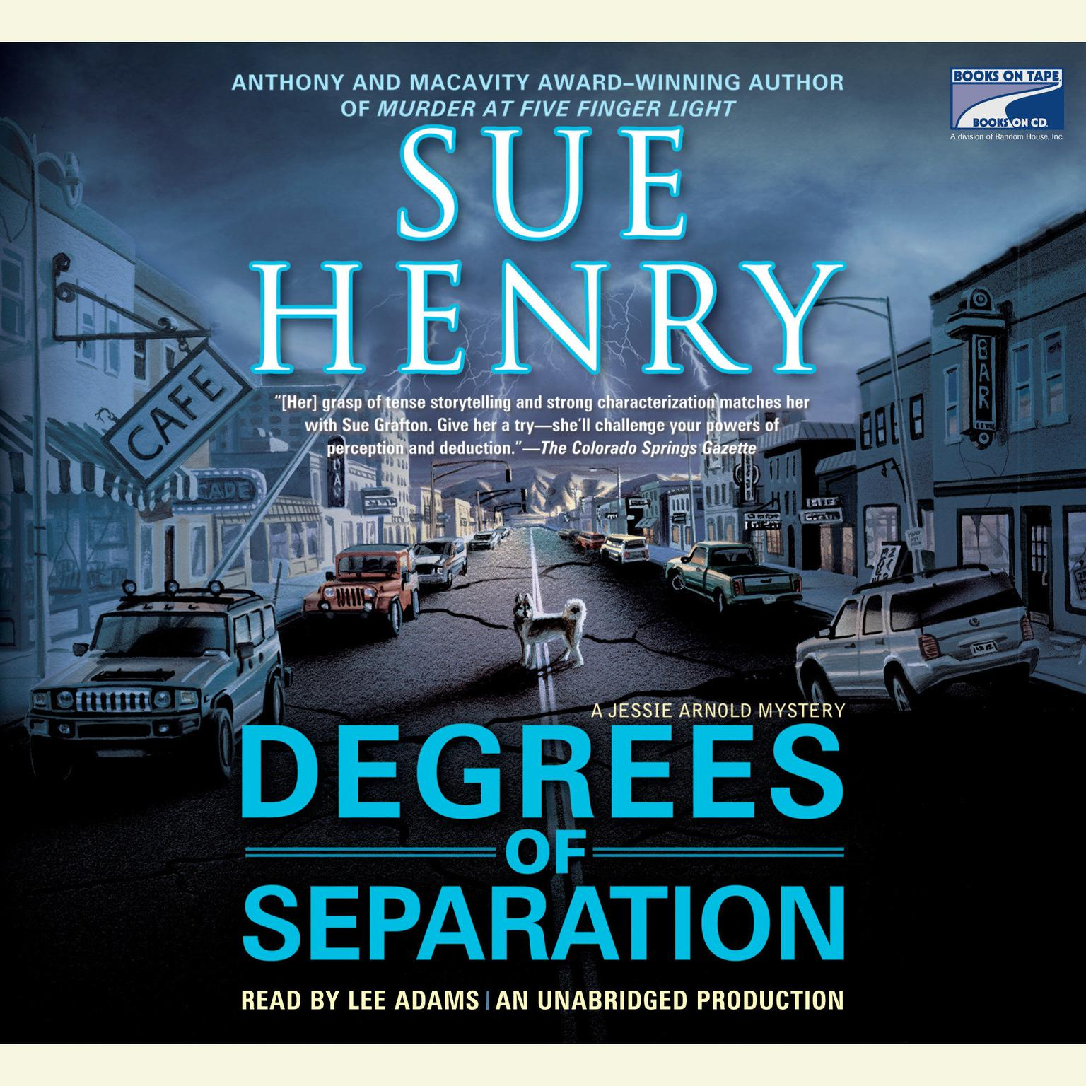 Printable Degrees of Separation: A Jessie Arnold Mystery Series Audiobook Cover Art