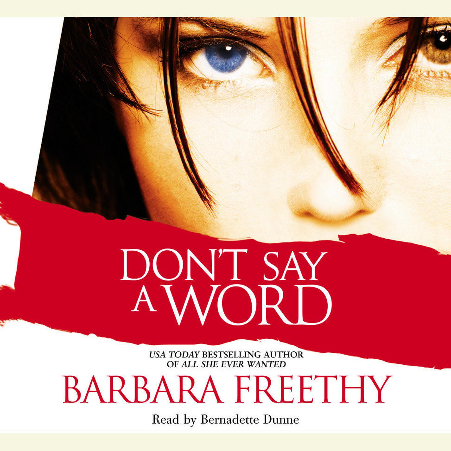 Printable Don't Say a Word Audiobook Cover Art