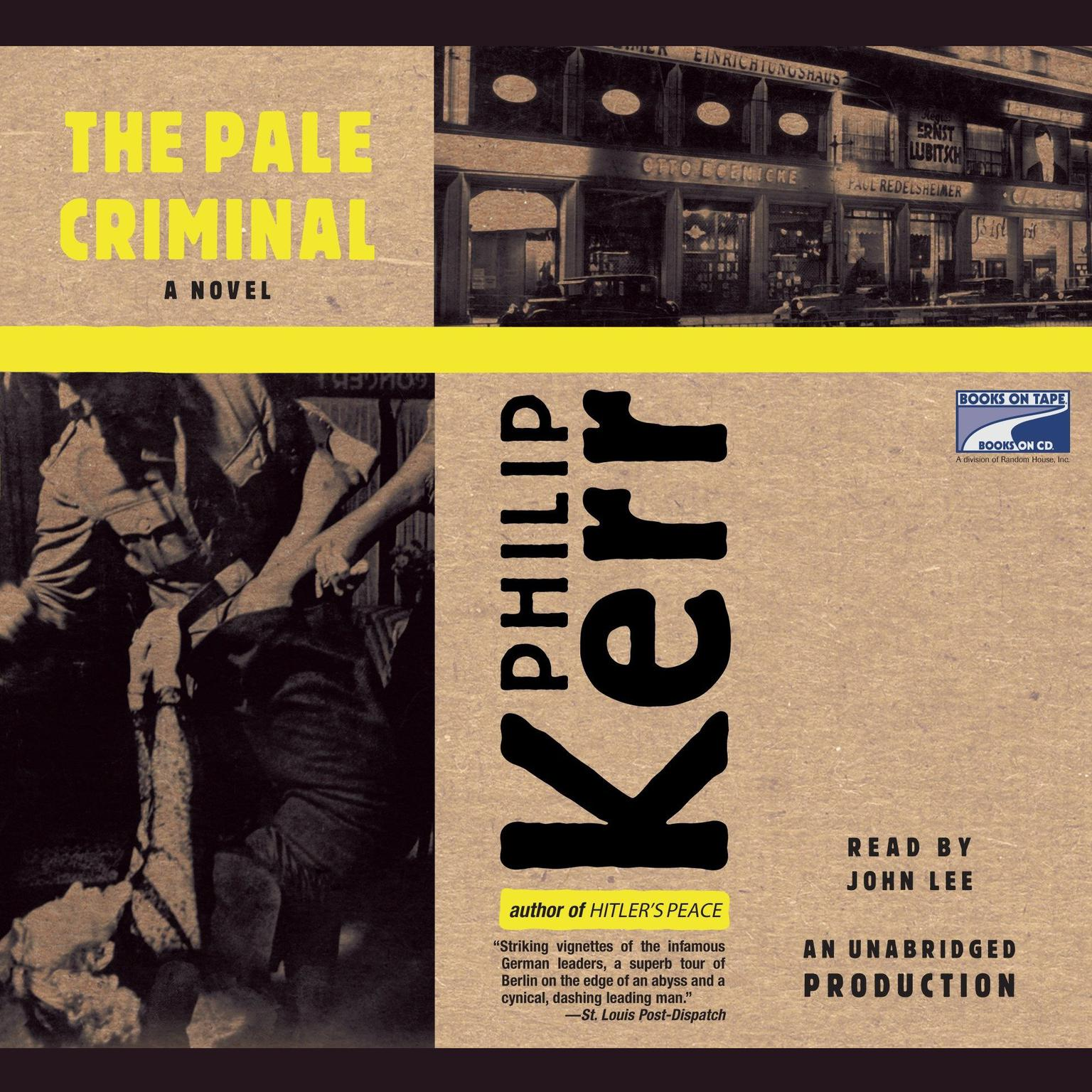 Printable The Pale Criminal Audiobook Cover Art