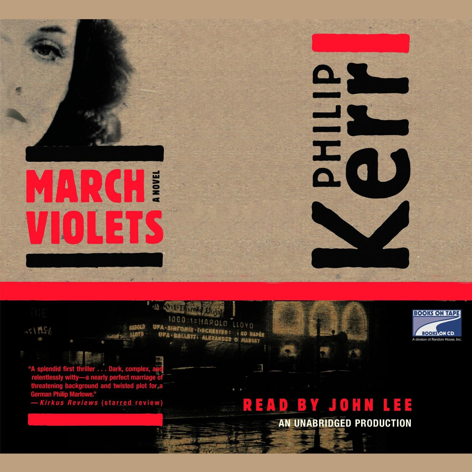 Printable March Violets Audiobook Cover Art
