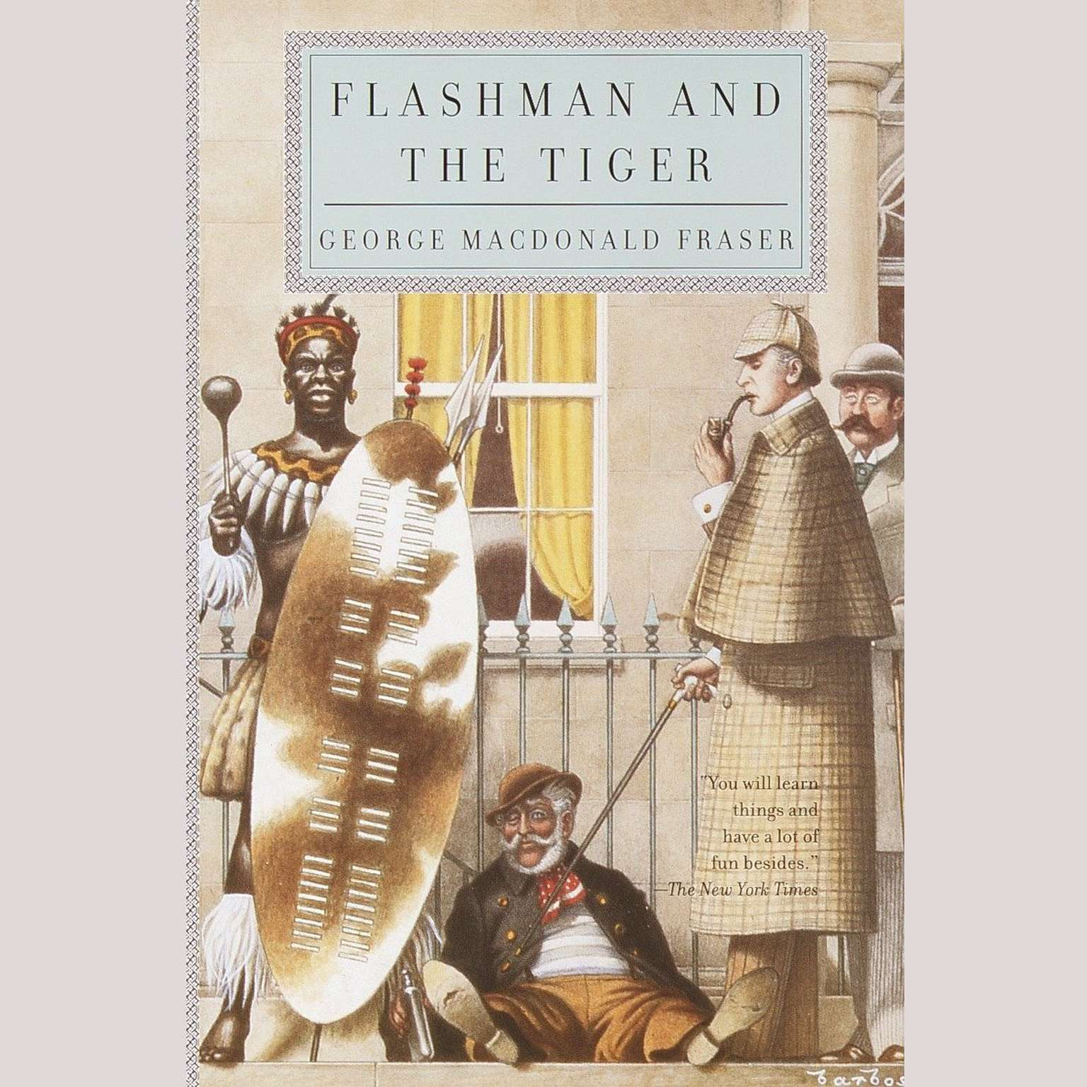 Printable Flashman and the Tiger Audiobook Cover Art