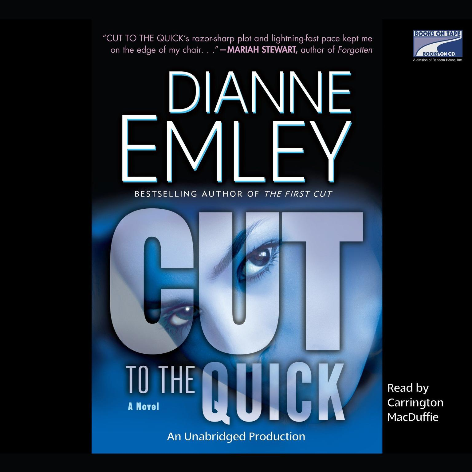 Printable Cut to the Quick: A Novel Audiobook Cover Art