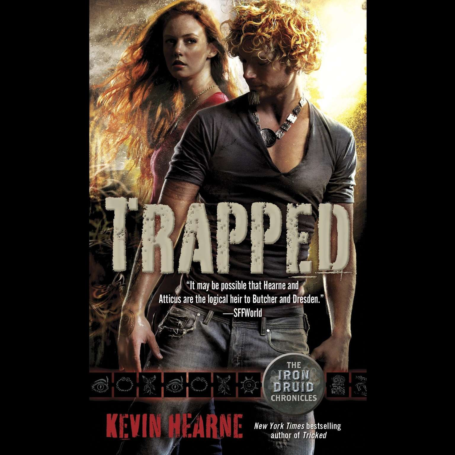 Printable Trapped: The Iron Druid Chronicles, Book Five Audiobook Cover Art