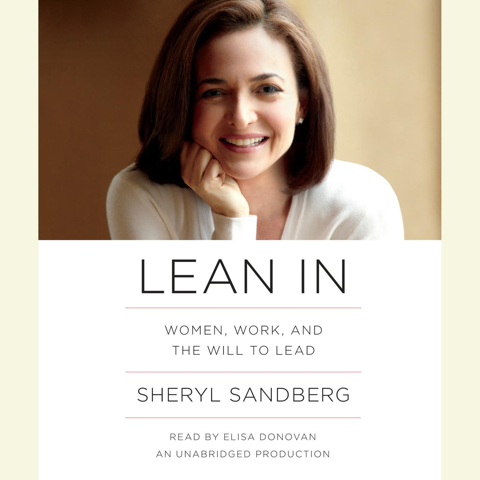 Printable Lean In: Women, Work, and the Will to Lead Audiobook Cover Art