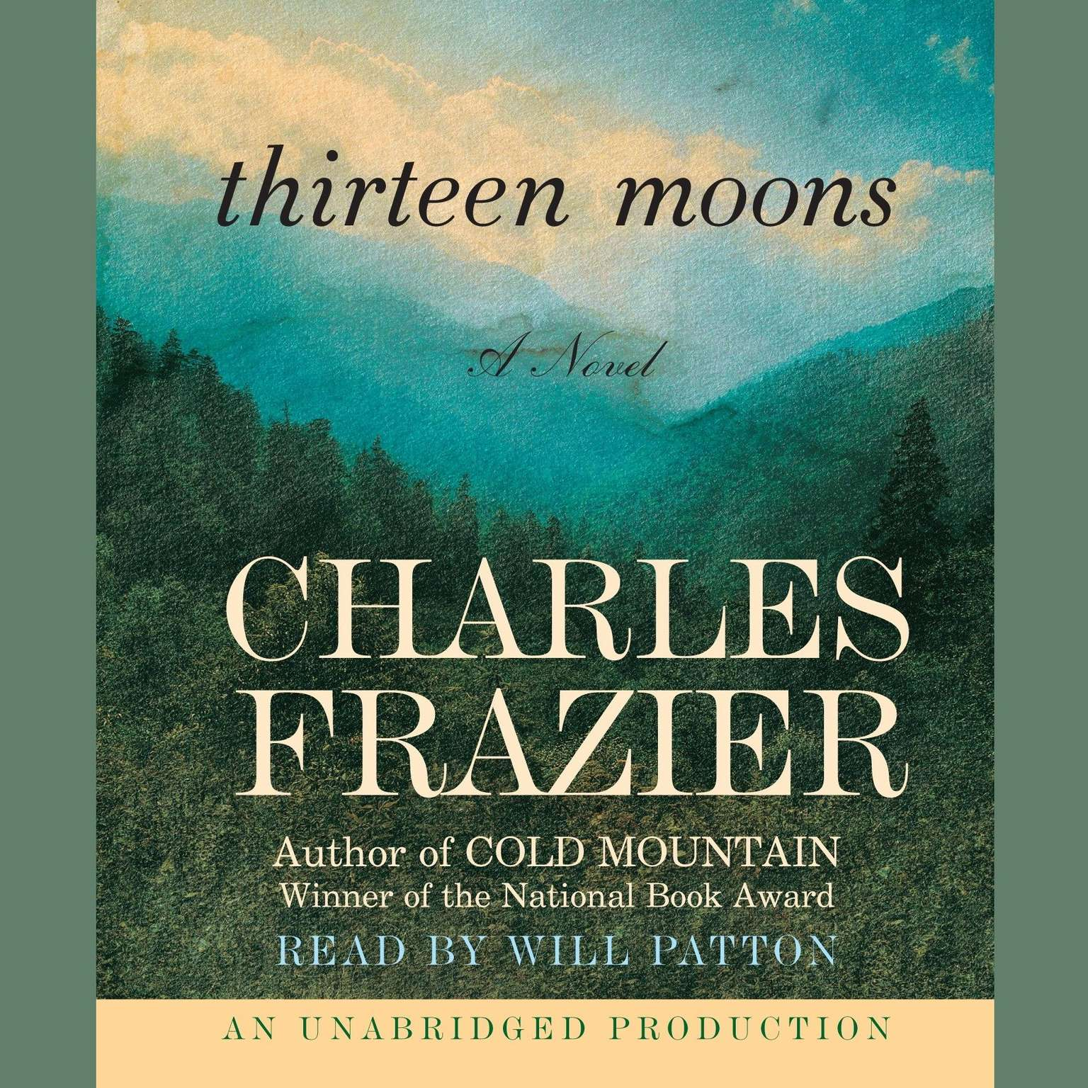 Printable Thirteen Moons: A Novel Audiobook Cover Art