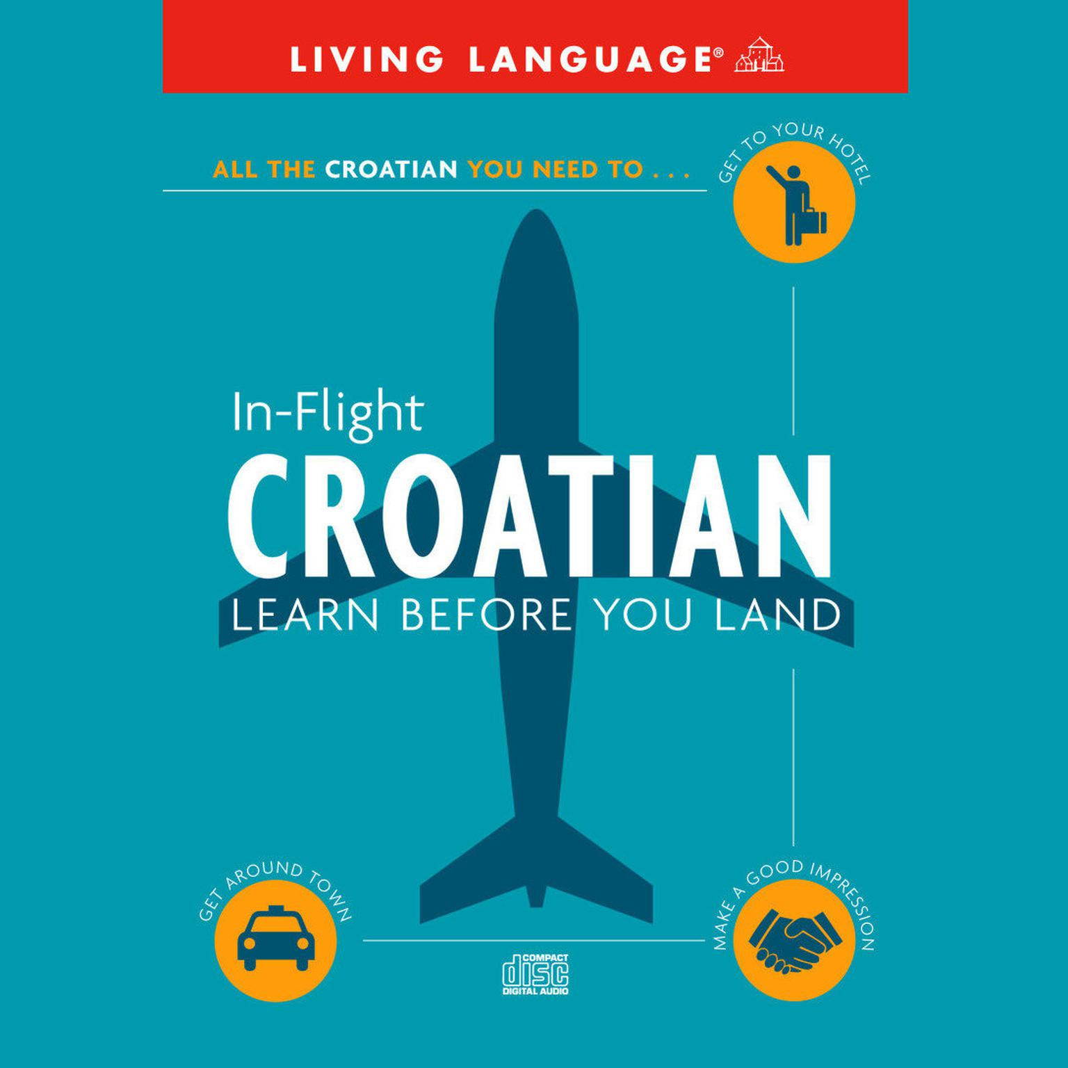 Printable In-Flight Croatian: Learn Before You Land Audiobook Cover Art