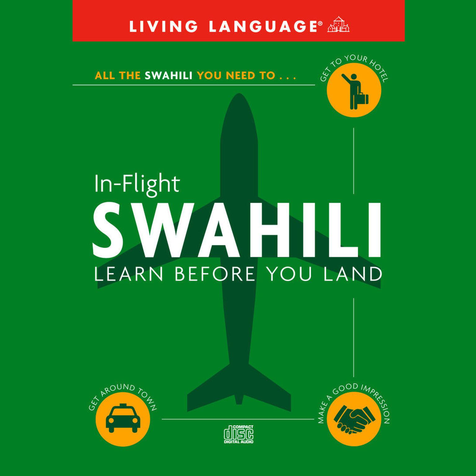 Printable In-Flight Swahili: Learn Before You Land Audiobook Cover Art