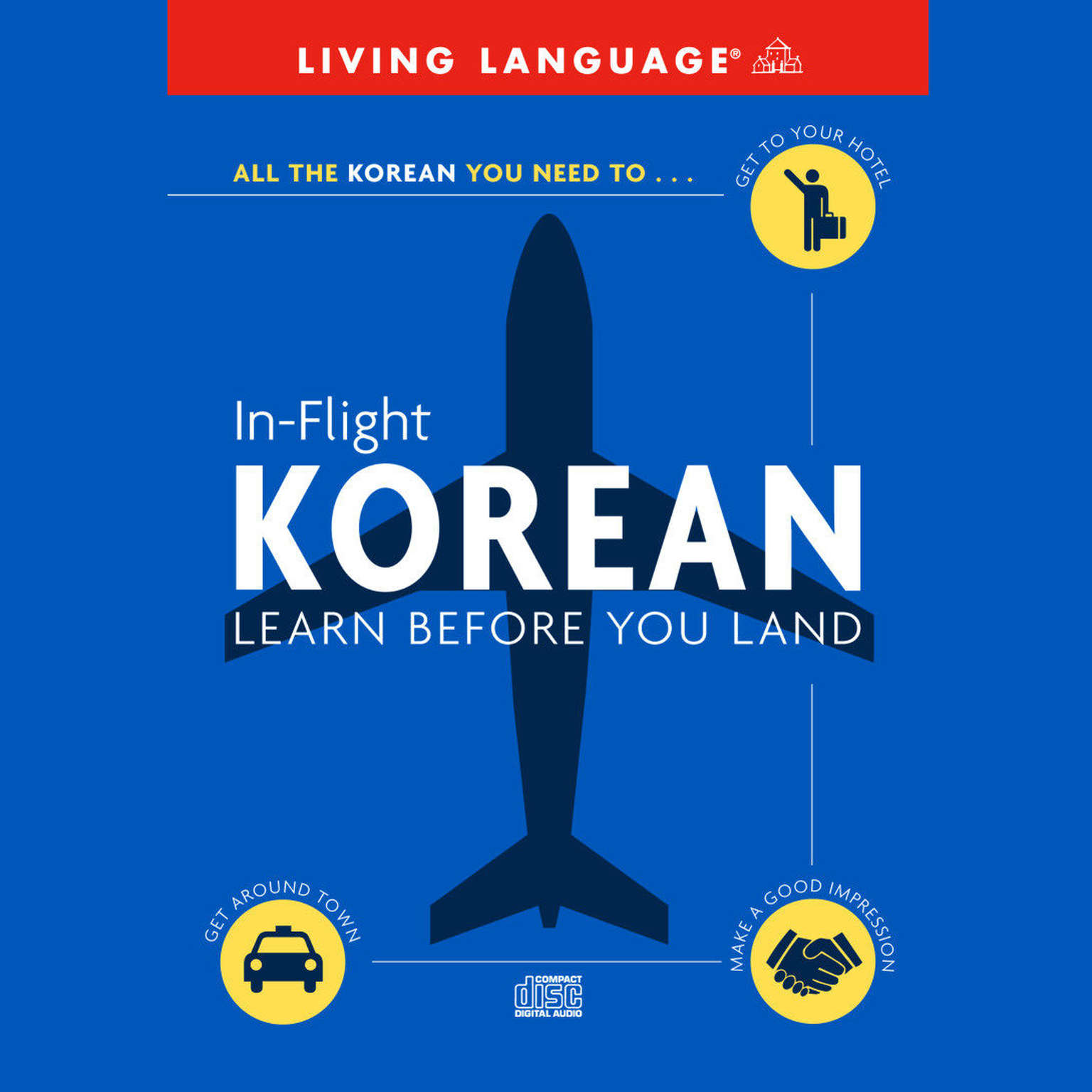 Printable In-Flight Korean: Learn Before You Land Audiobook Cover Art