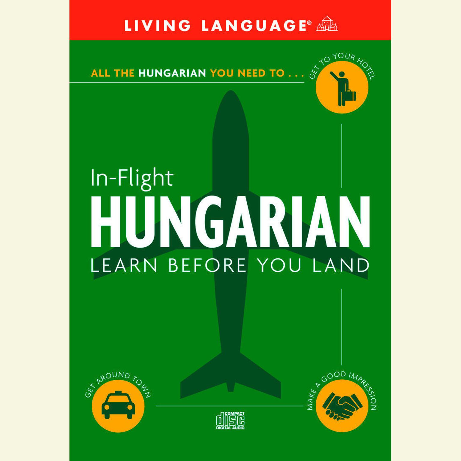 Printable In-Flight Hungarian: Learn Before You Land Audiobook Cover Art