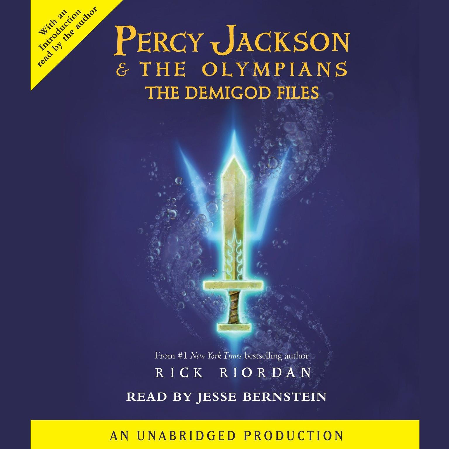 Printable Percy Jackson: The Demigod Files Audiobook Cover Art
