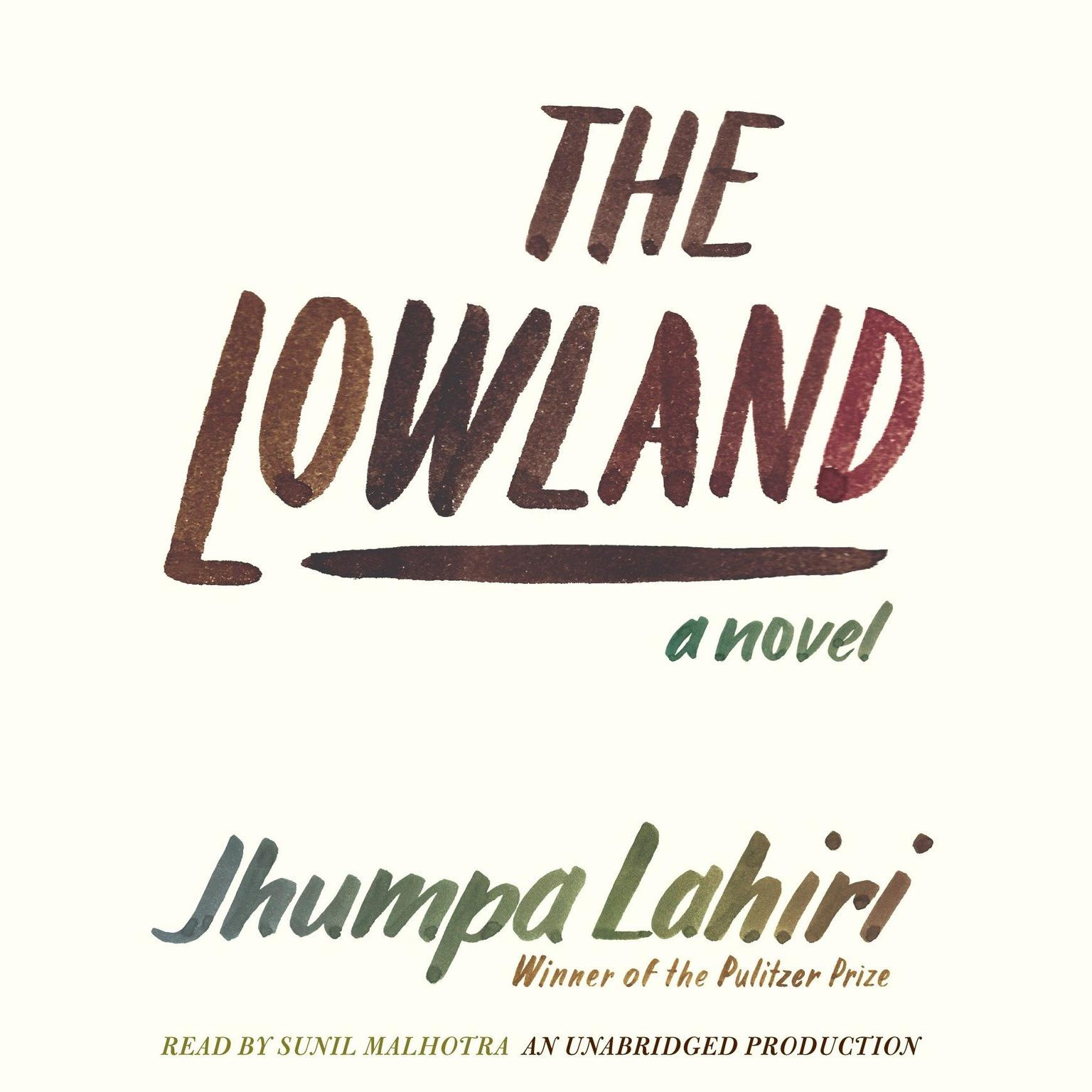 Printable The Lowland Audiobook Cover Art