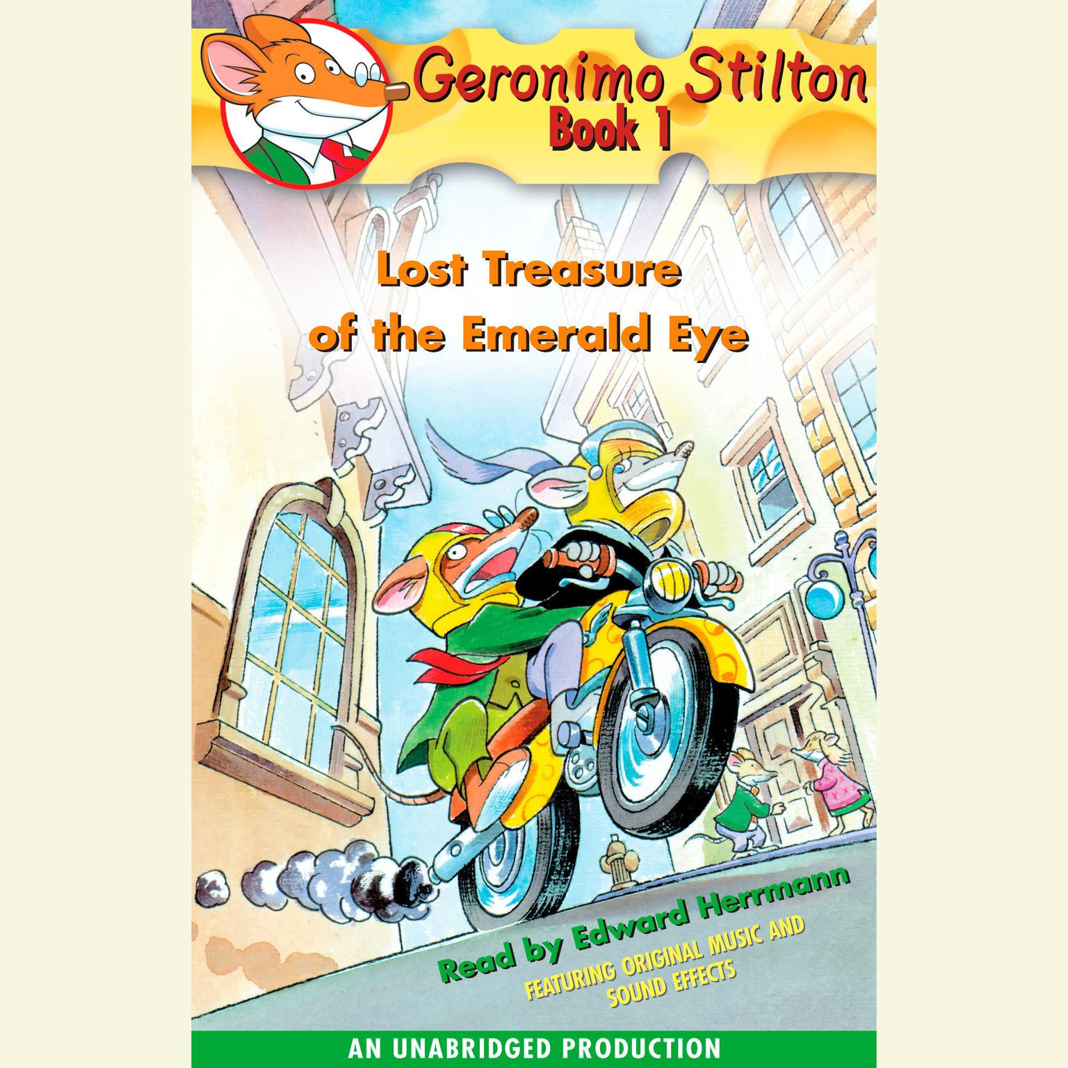 Printable Geronimo Stilton Book 1: Lost Treasure of the Emerald Eye Audiobook Cover Art