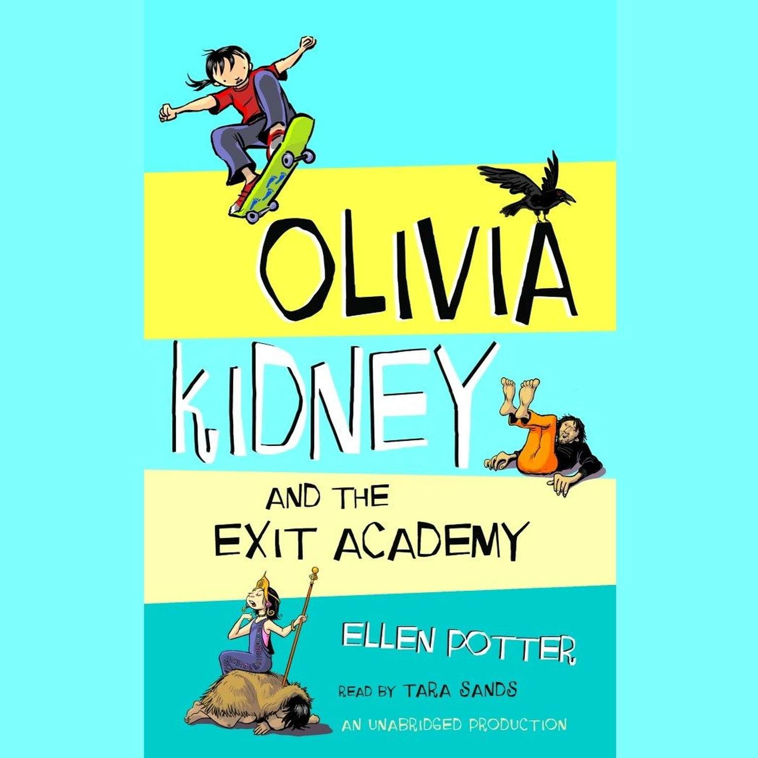 Printable Olivia Kidney and the Exit Academy Audiobook Cover Art
