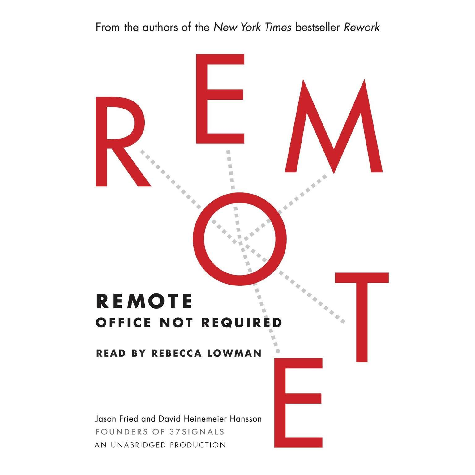 Printable Remote: Office Not Required Audiobook Cover Art
