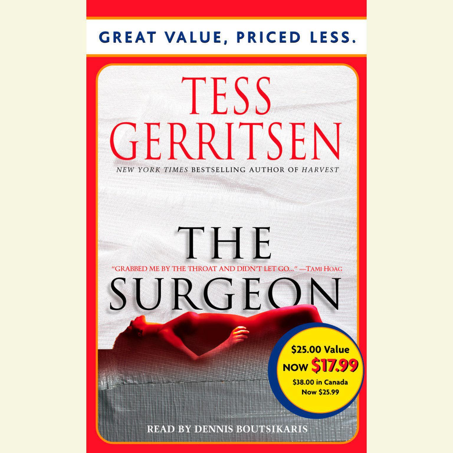 Printable The Surgeon: A Rizzoli & Isles Novel Audiobook Cover Art