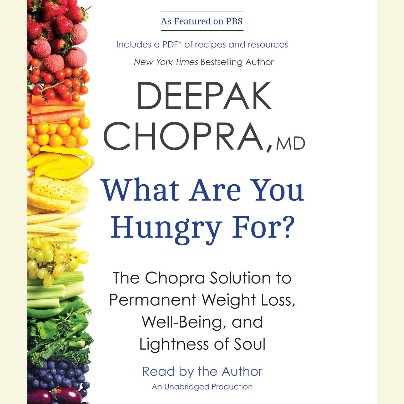 Printable What Are You Hungry For?: The Chopra Solution to Permanent Weight Loss, Well-Being, and Lightness of Soul Audiobook Cover Art