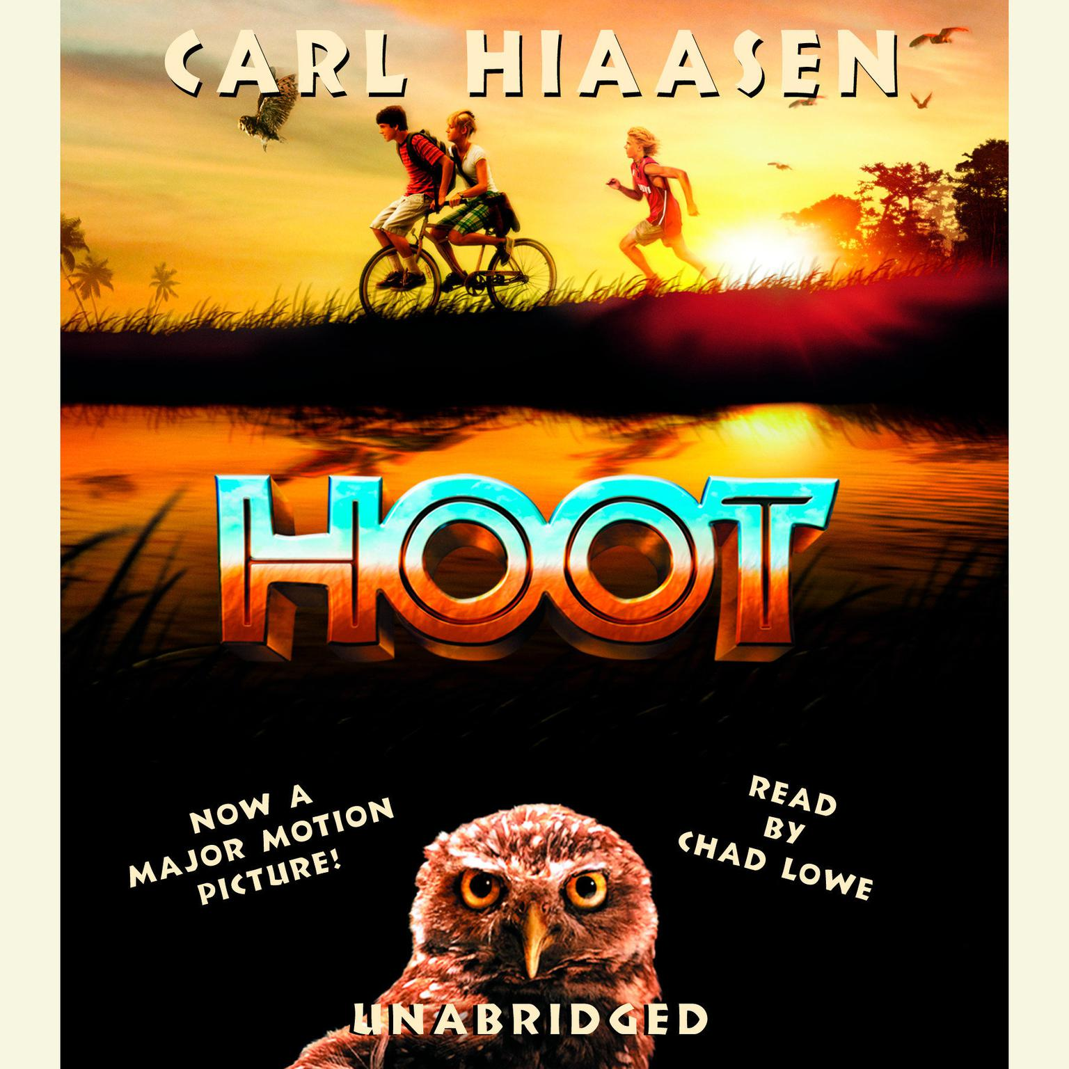 Printable Hoot Audiobook Cover Art