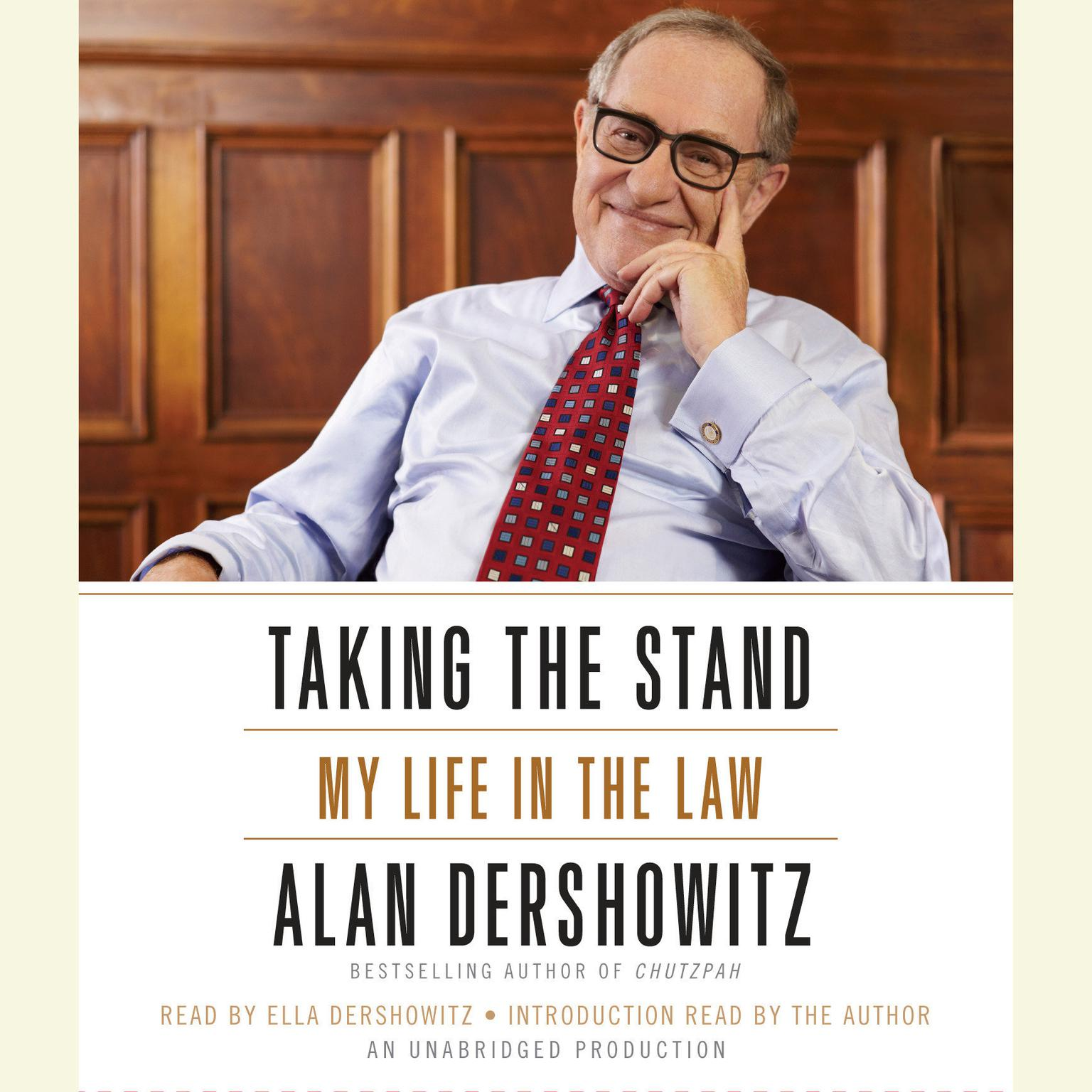 Printable Taking the Stand: My Life in the Law Audiobook Cover Art