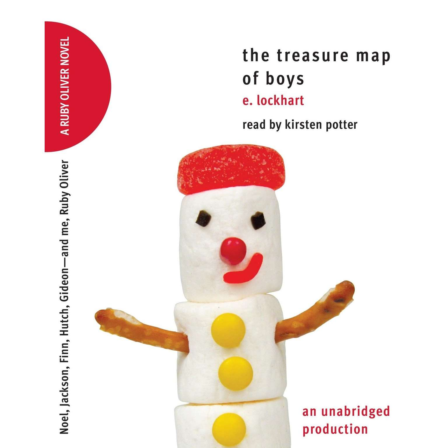 Printable The Treasure Map of Boys: Noel, Jackson, Finn, Hutch, Gideon--and me, Ruby Oliver Audiobook Cover Art