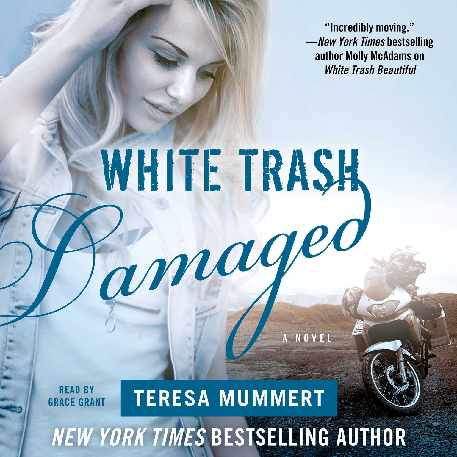 Printable White Trash Damaged Audiobook Cover Art