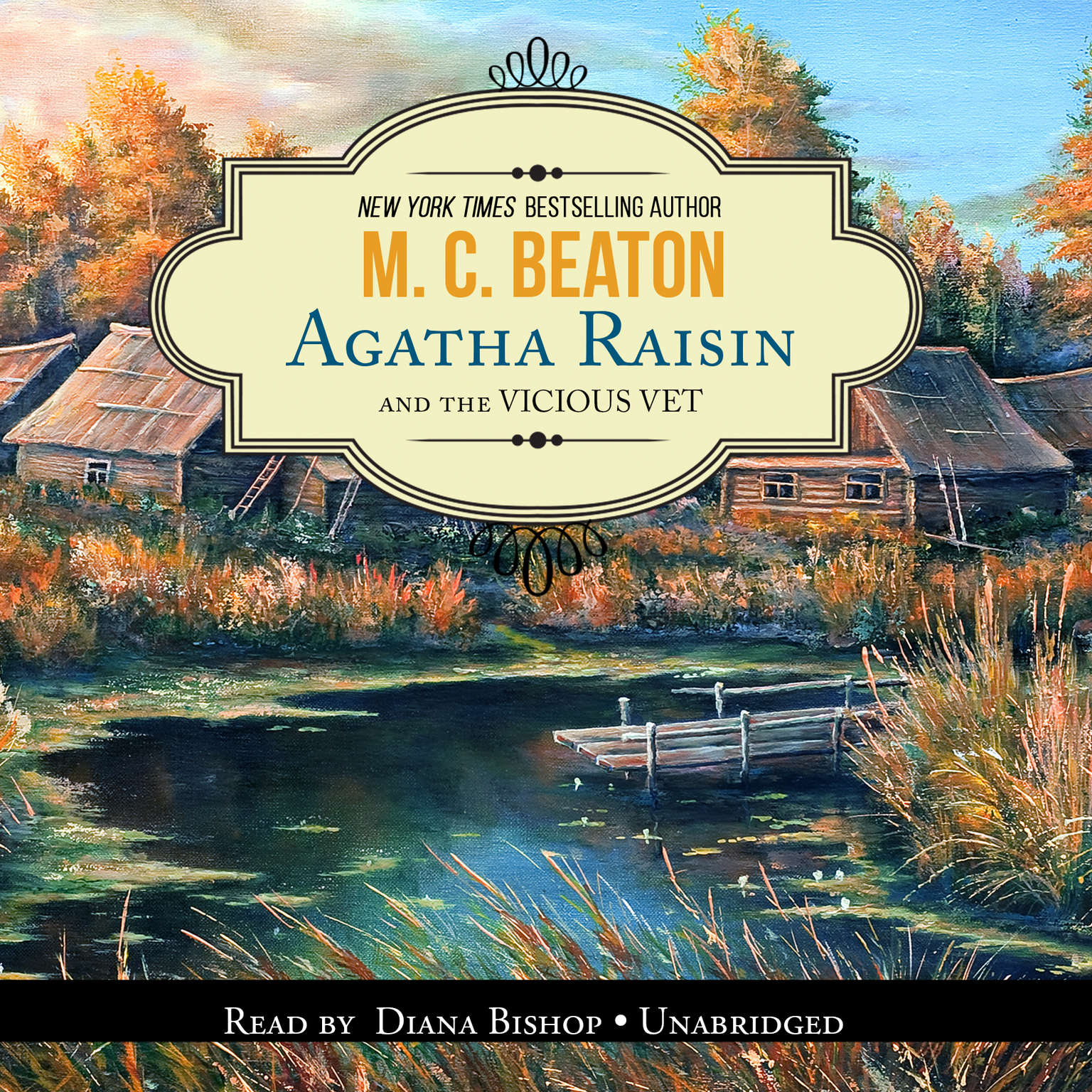 Printable Agatha Raisin and the Vicious Vet Audiobook Cover Art