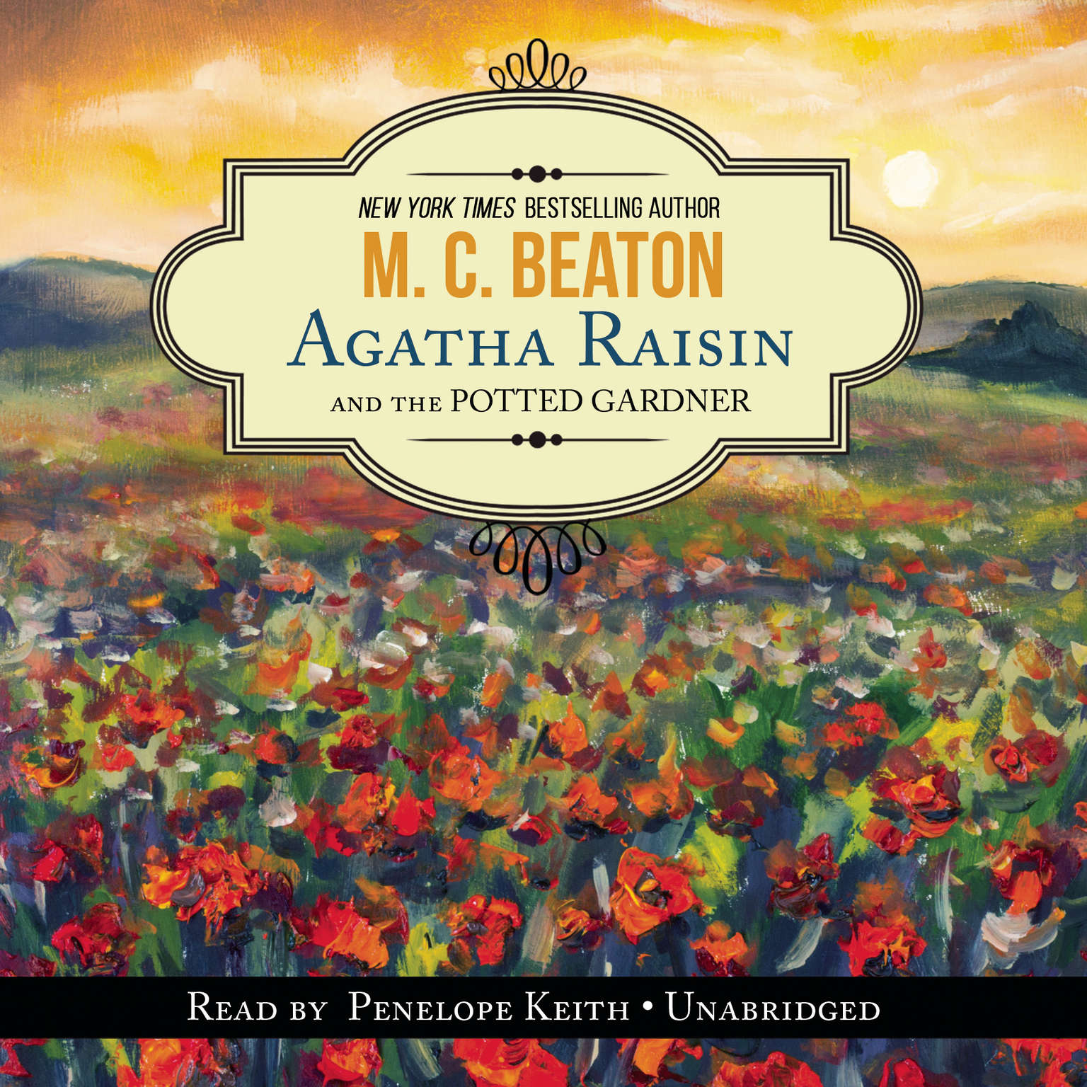 Printable Agatha Raisin and the Potted Gardener Audiobook Cover Art