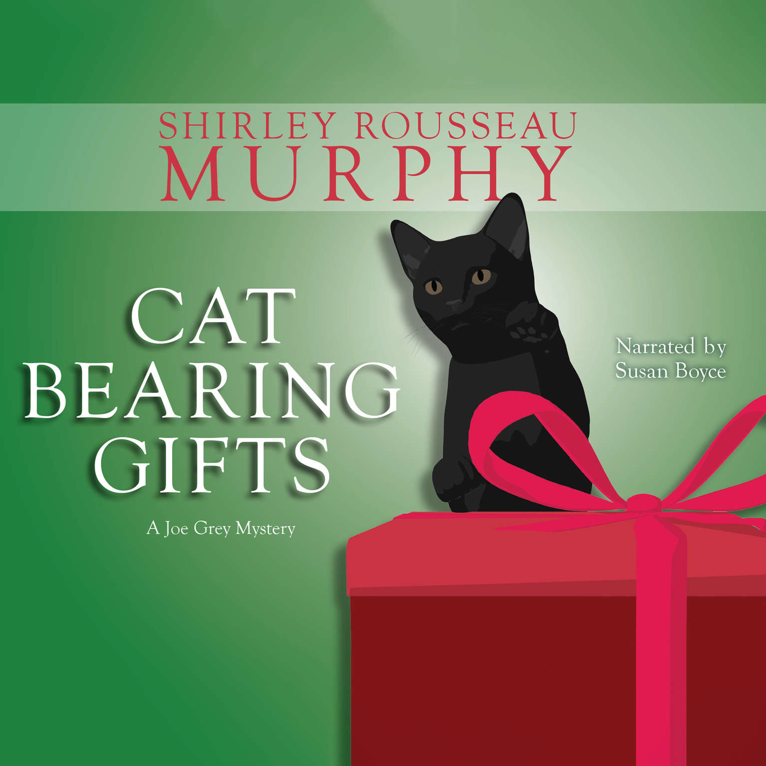 Printable Cat Bearing Gifts Audiobook Cover Art