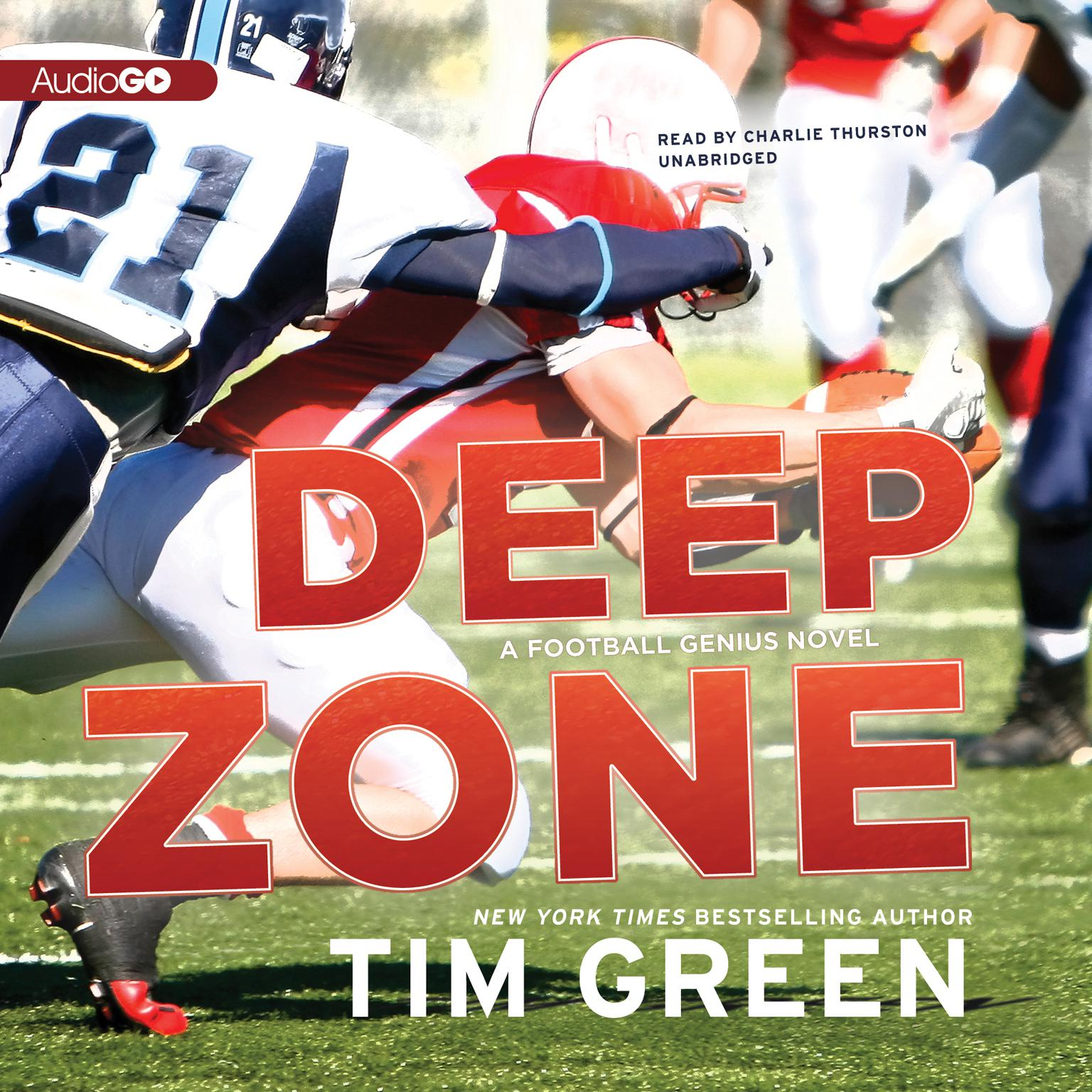 Printable Deep Zone: A Football Genius Novel Audiobook Cover Art