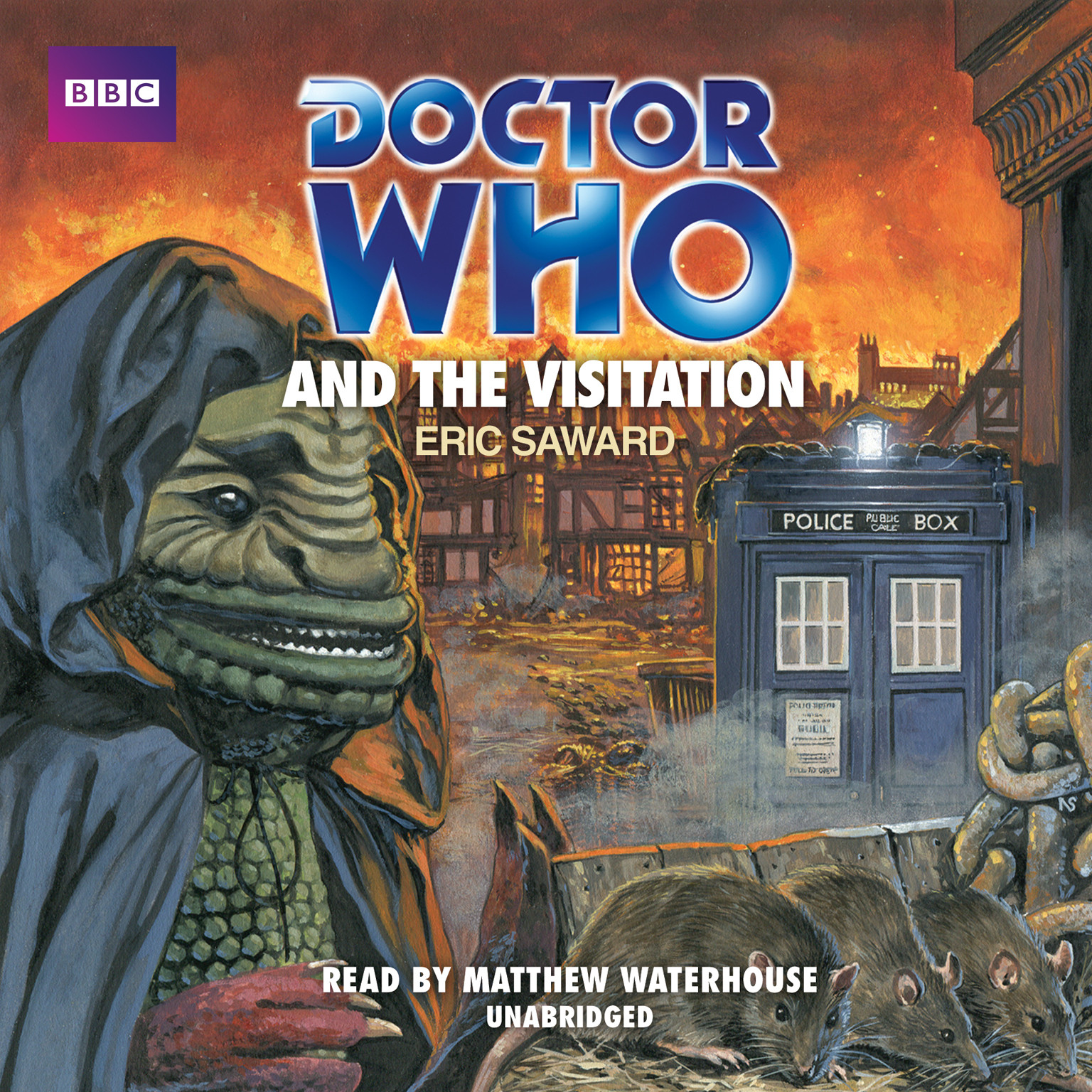Printable Doctor Who and the Visitation Audiobook Cover Art