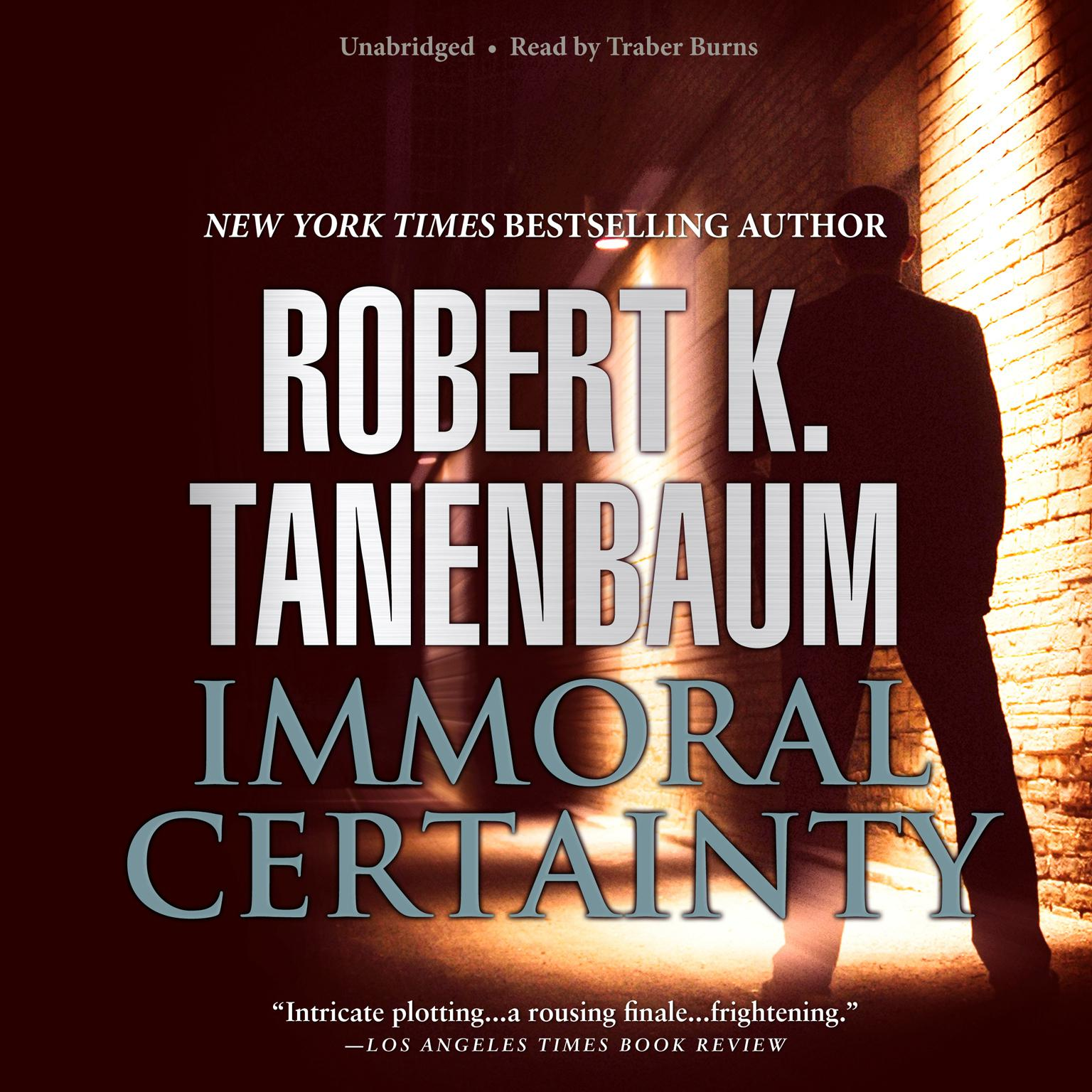 Printable Immoral Certainty Audiobook Cover Art