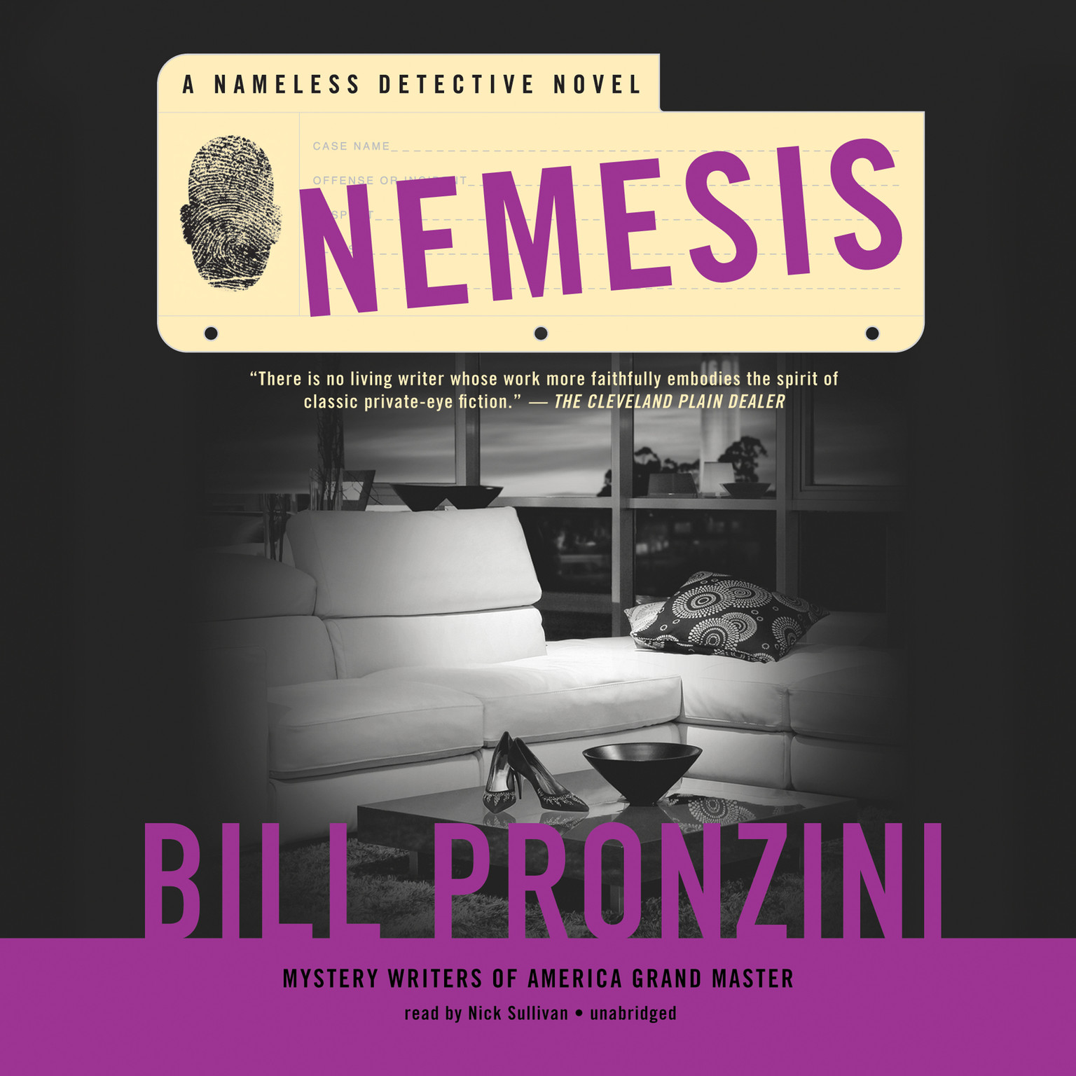 Printable Nemesis: A Nameless Detective Novel Audiobook Cover Art