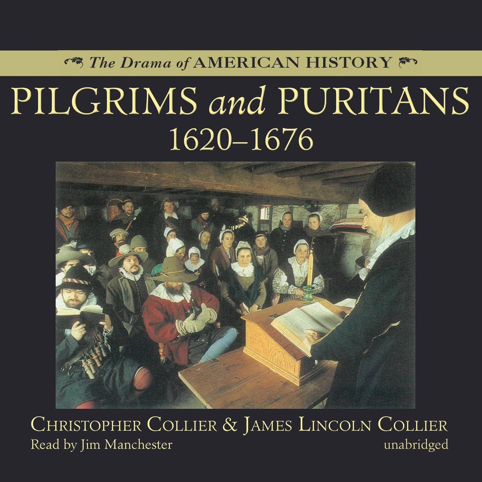 Printable Pilgrims and Puritans Audiobook Cover Art