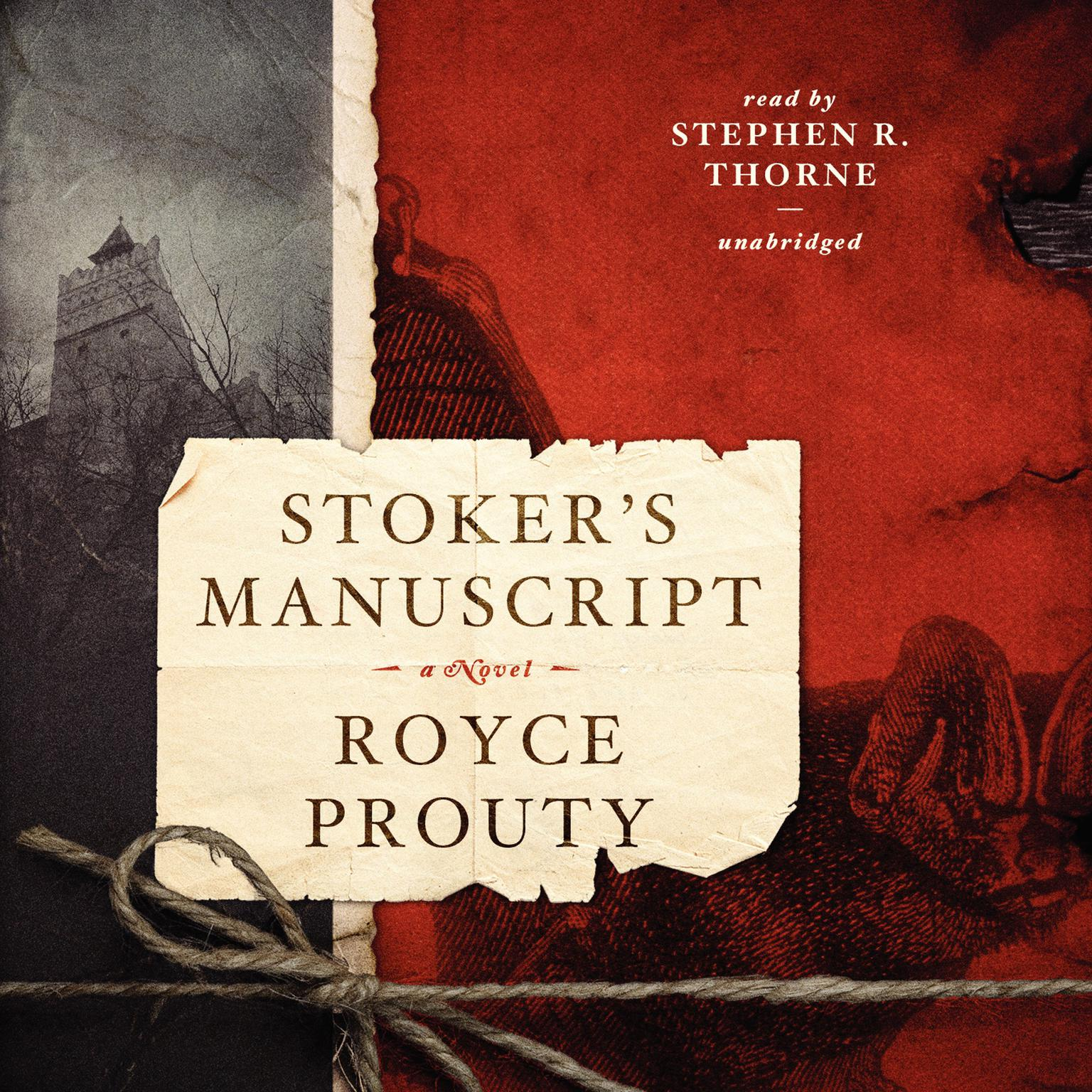 Printable Stoker's Manuscript Audiobook Cover Art