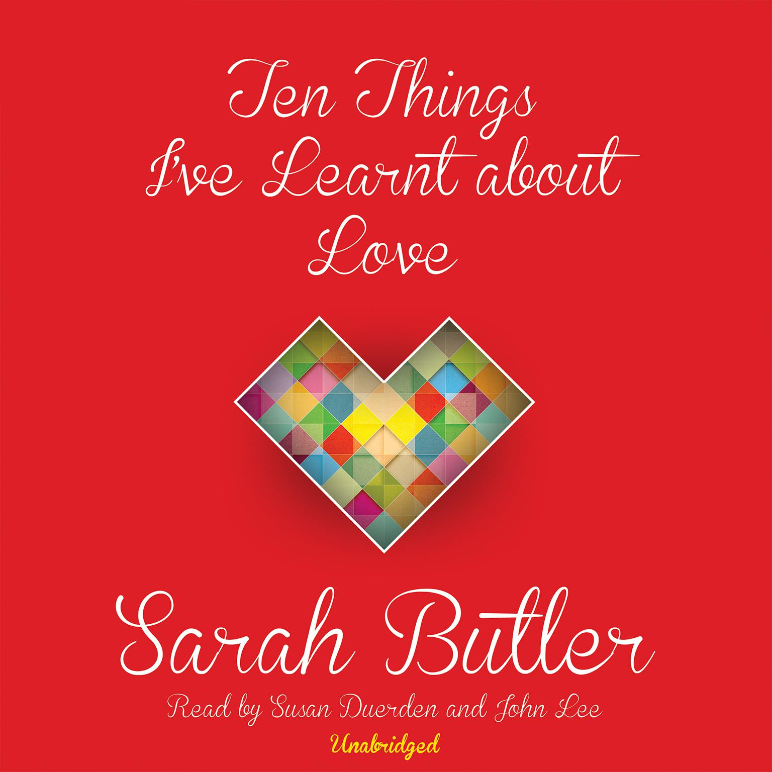 Printable Ten Things I've Learnt about Love Audiobook Cover Art