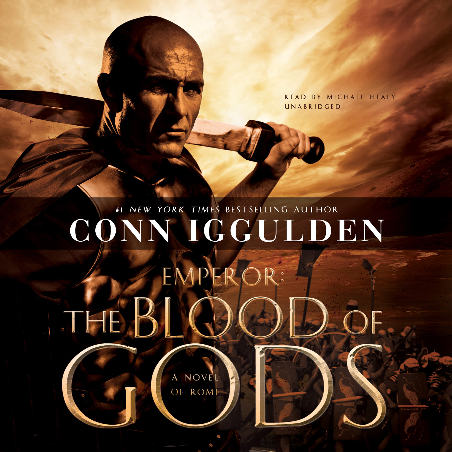 Printable Emperor: The Blood of Gods: A Novel of Rome Audiobook Cover Art