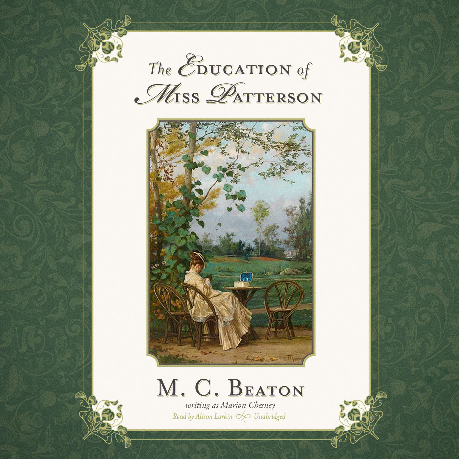 Printable The Education of Miss Patterson Audiobook Cover Art