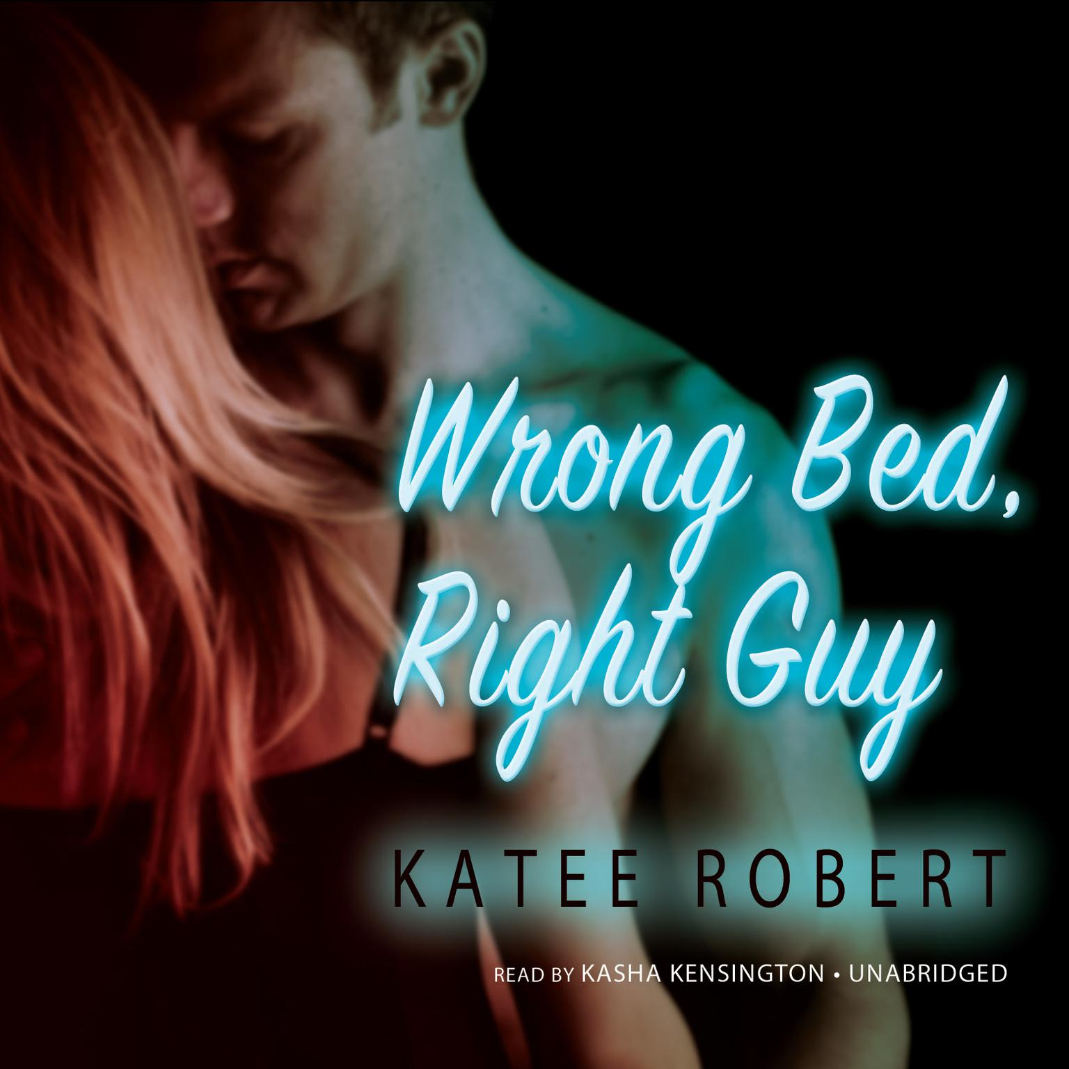 Printable Wrong Bed, Right Guy Audiobook Cover Art