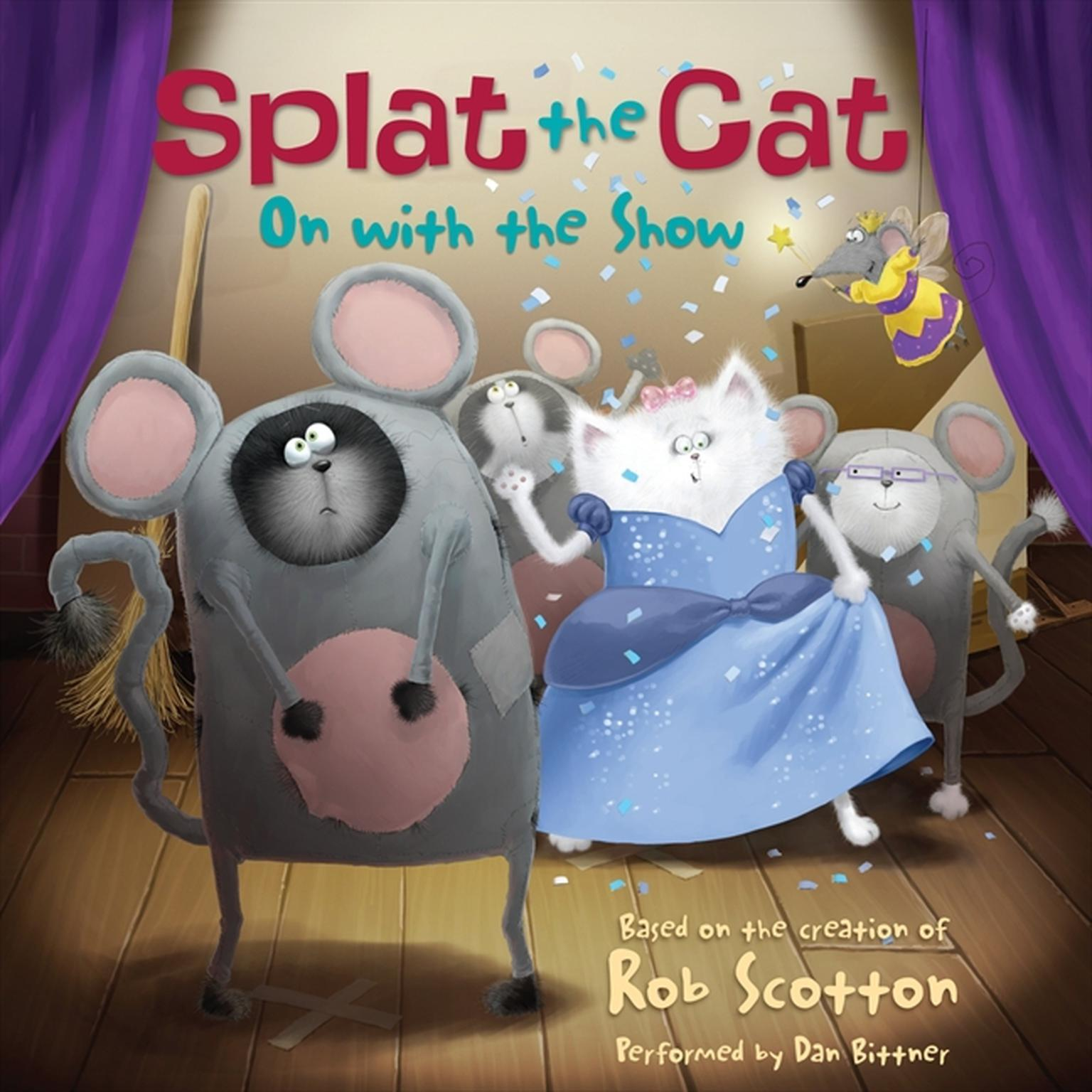 Printable Splat the Cat: On with the Show Audiobook Cover Art
