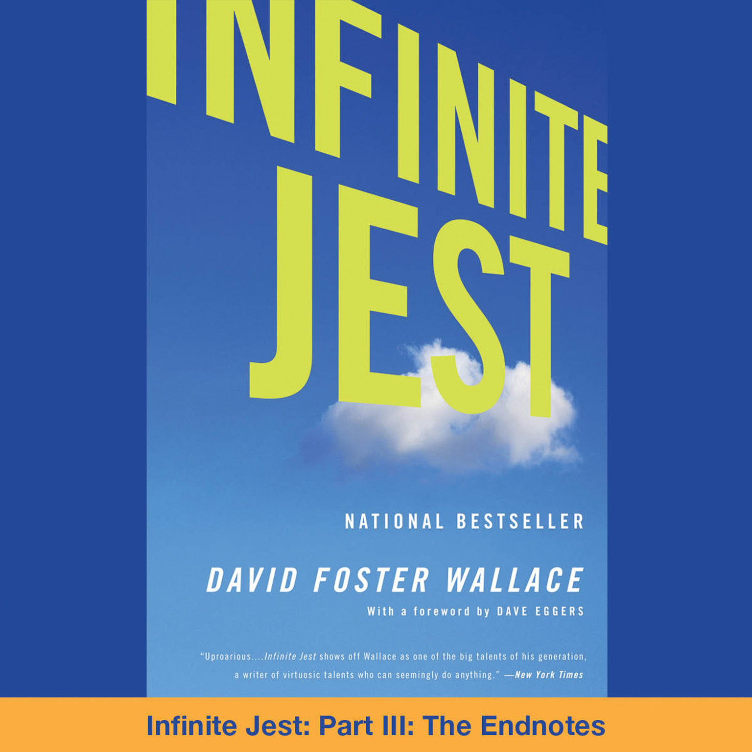 Printable Infinite Jest: Part III: The Endnotes Audiobook Cover Art