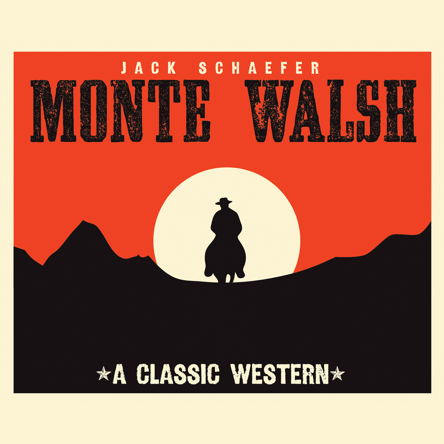 Printable Monte Walsh Audiobook Cover Art