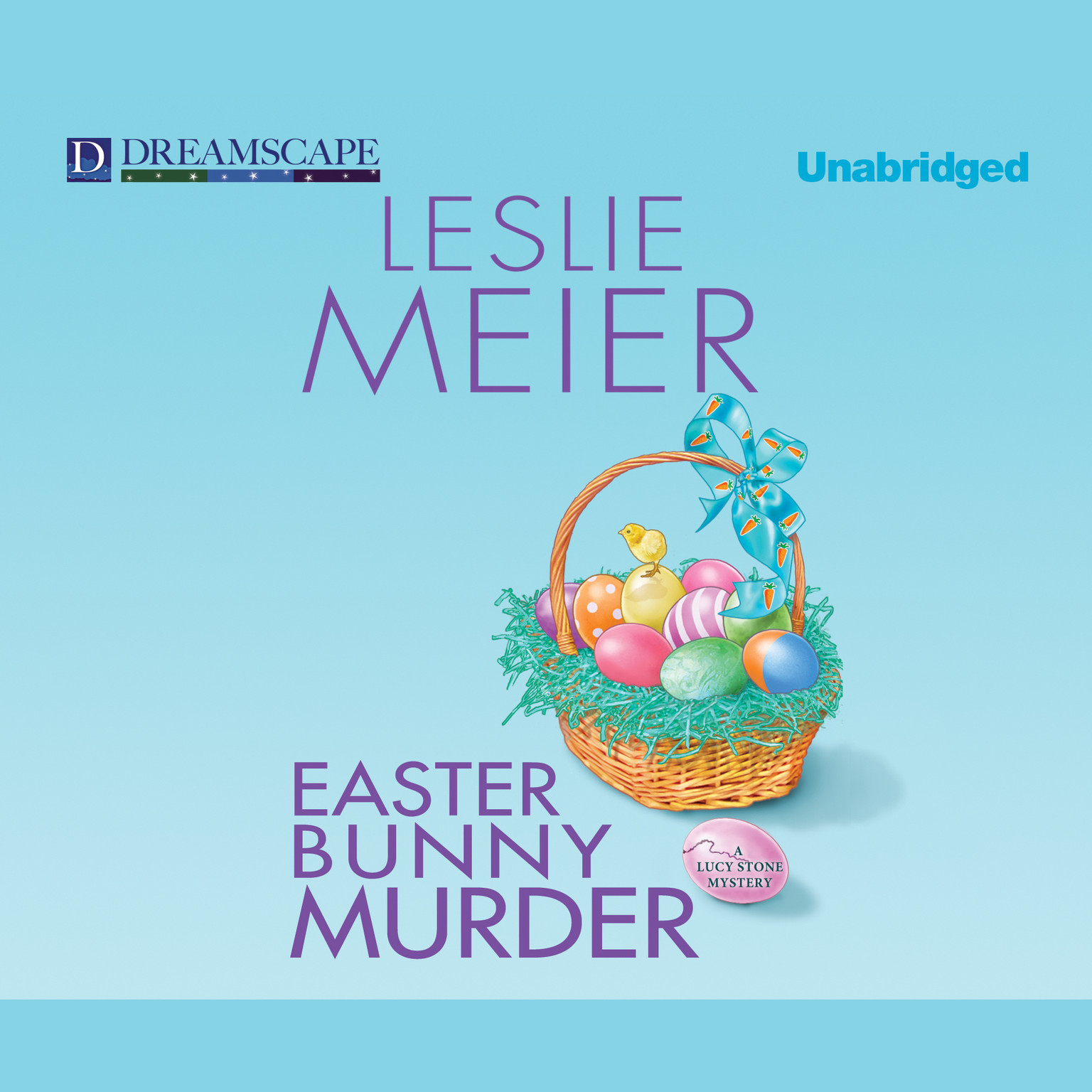Printable Easter Bunny Murder Audiobook Cover Art