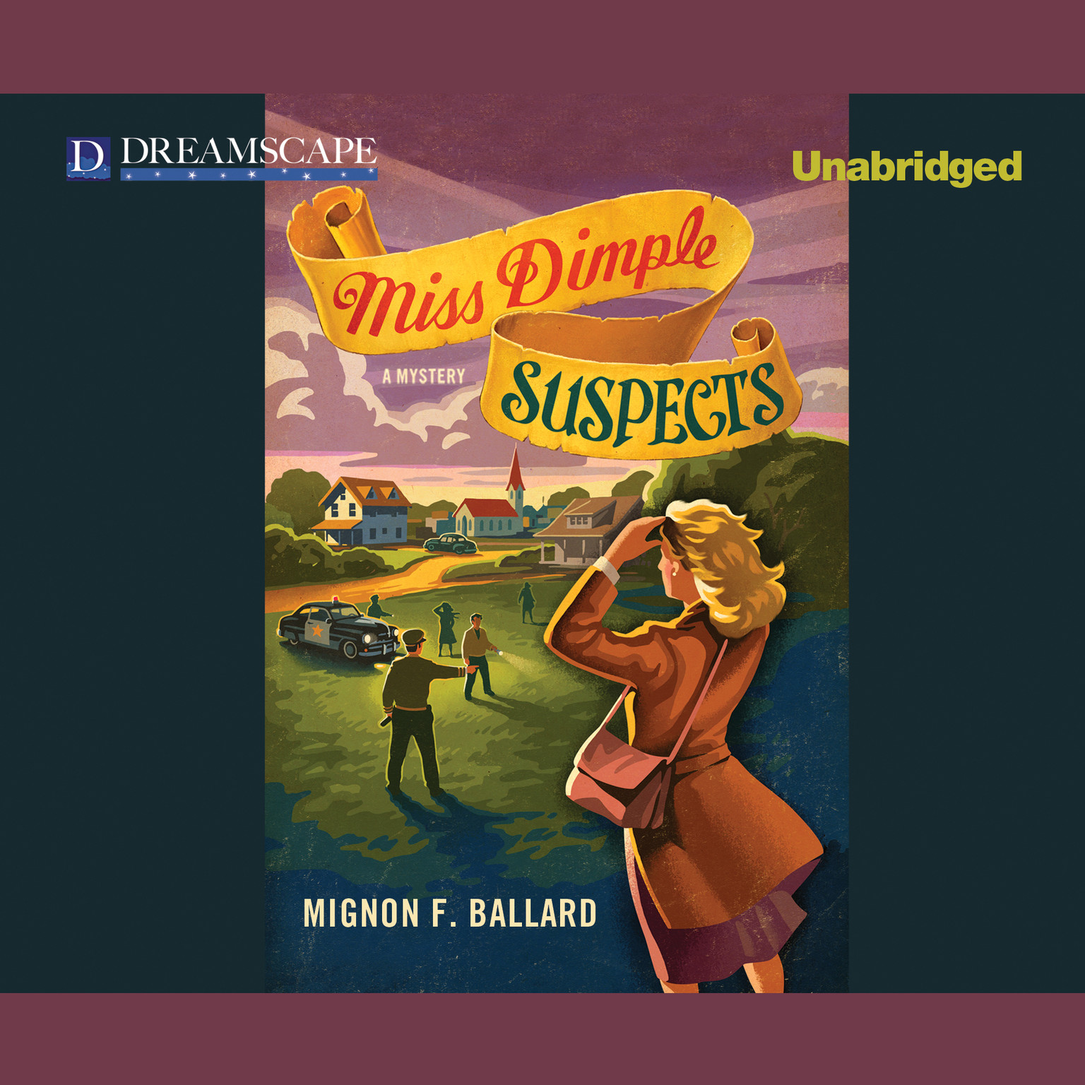 Printable Miss Dimple Suspects Audiobook Cover Art