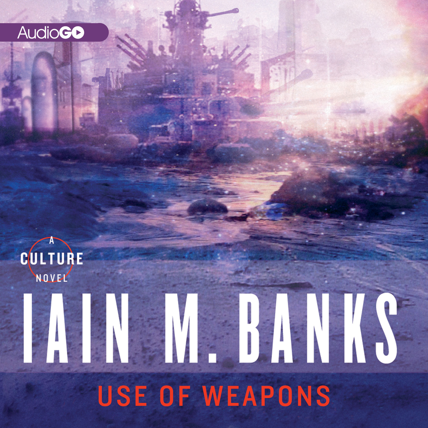 Printable Use of Weapons Audiobook Cover Art