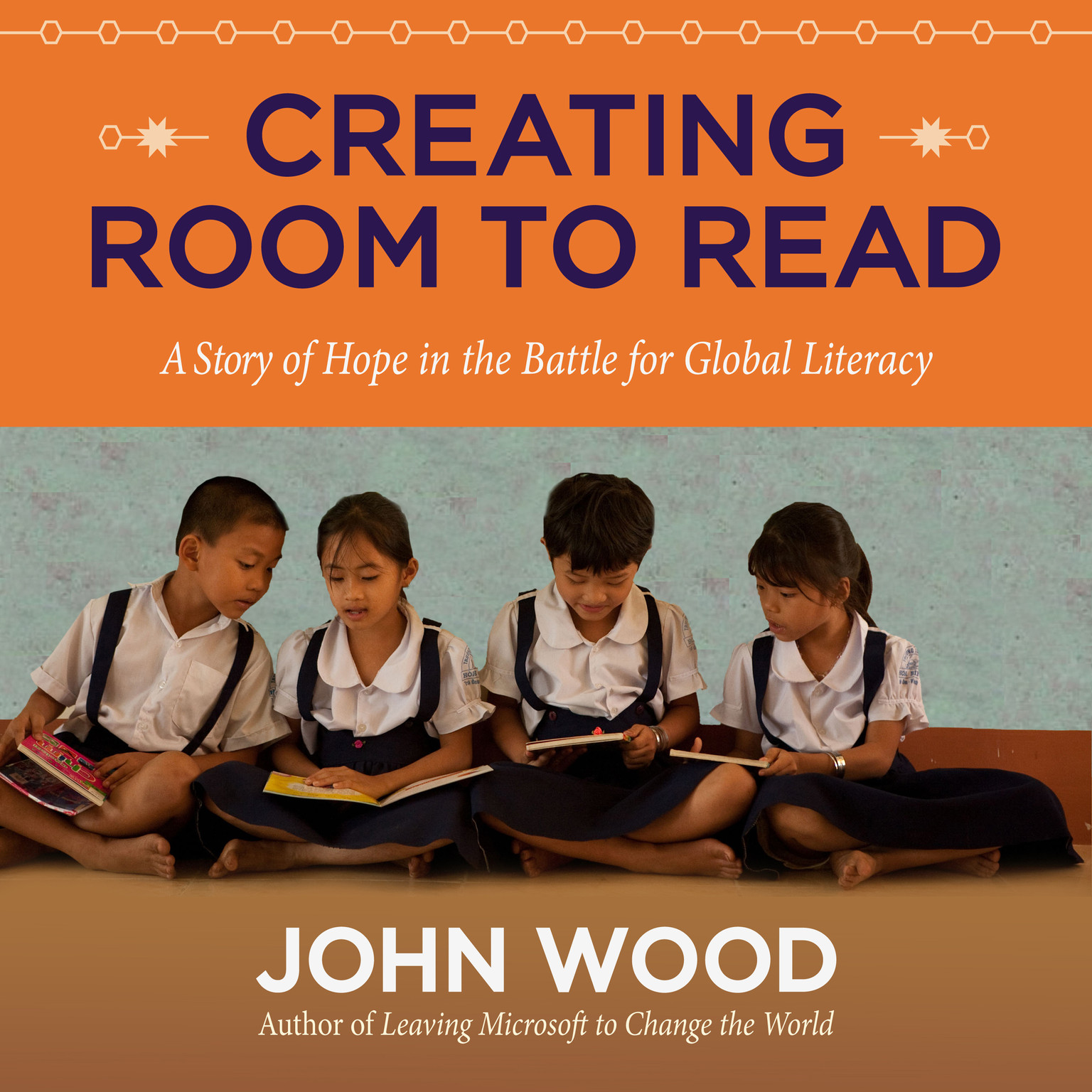Printable Creating Room to Read: A Story of Hope in the Battle for Global Literacy Audiobook Cover Art