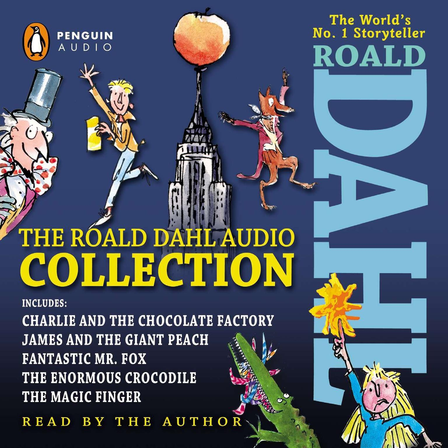 Printable The Roald Dahl Audio Collection: Includes Charlie and the Chocolate Factory, James & the Giant Peach, Fantastic M r. Fox, The Enormous Crocodile & The Magic Finger Audiobook Cover Art