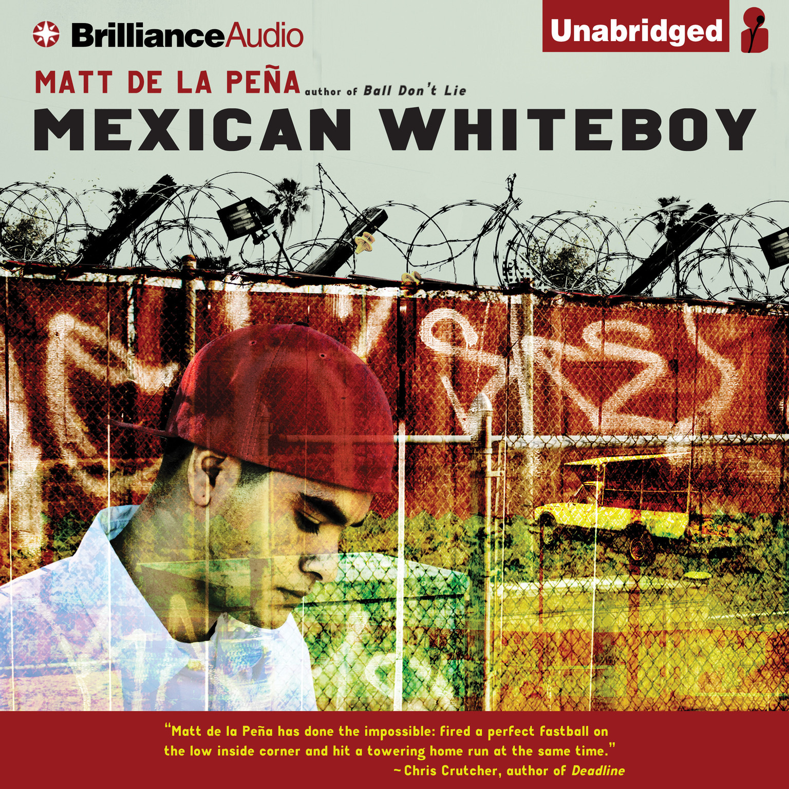 Printable Mexican WhiteBoy Audiobook Cover Art