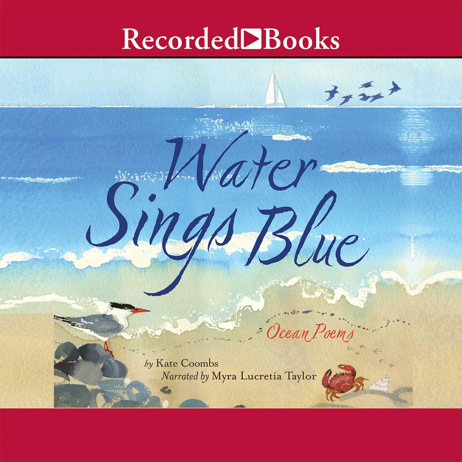 Printable Water Sings Blue: Ocean Poems Audiobook Cover Art