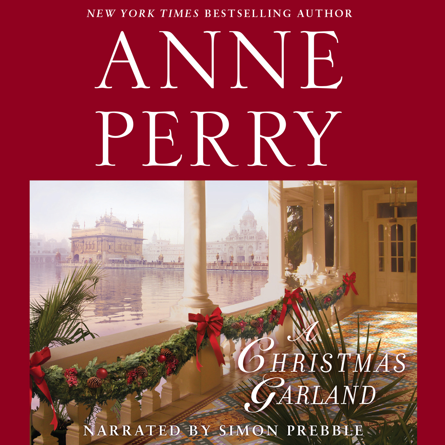 Printable A Christmas Garland Audiobook Cover Art